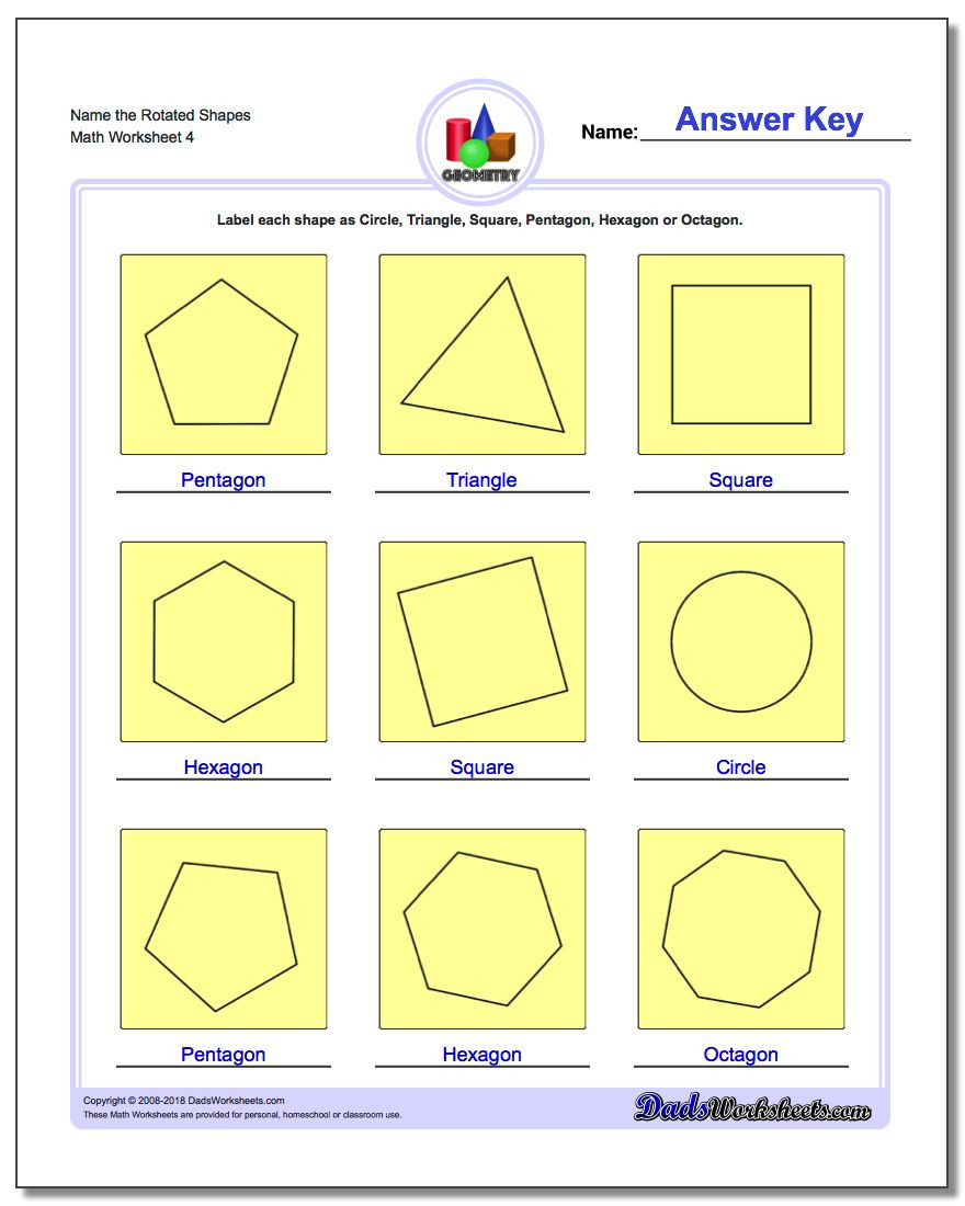Polygons Worksheets 5th Grade Basic Shapes