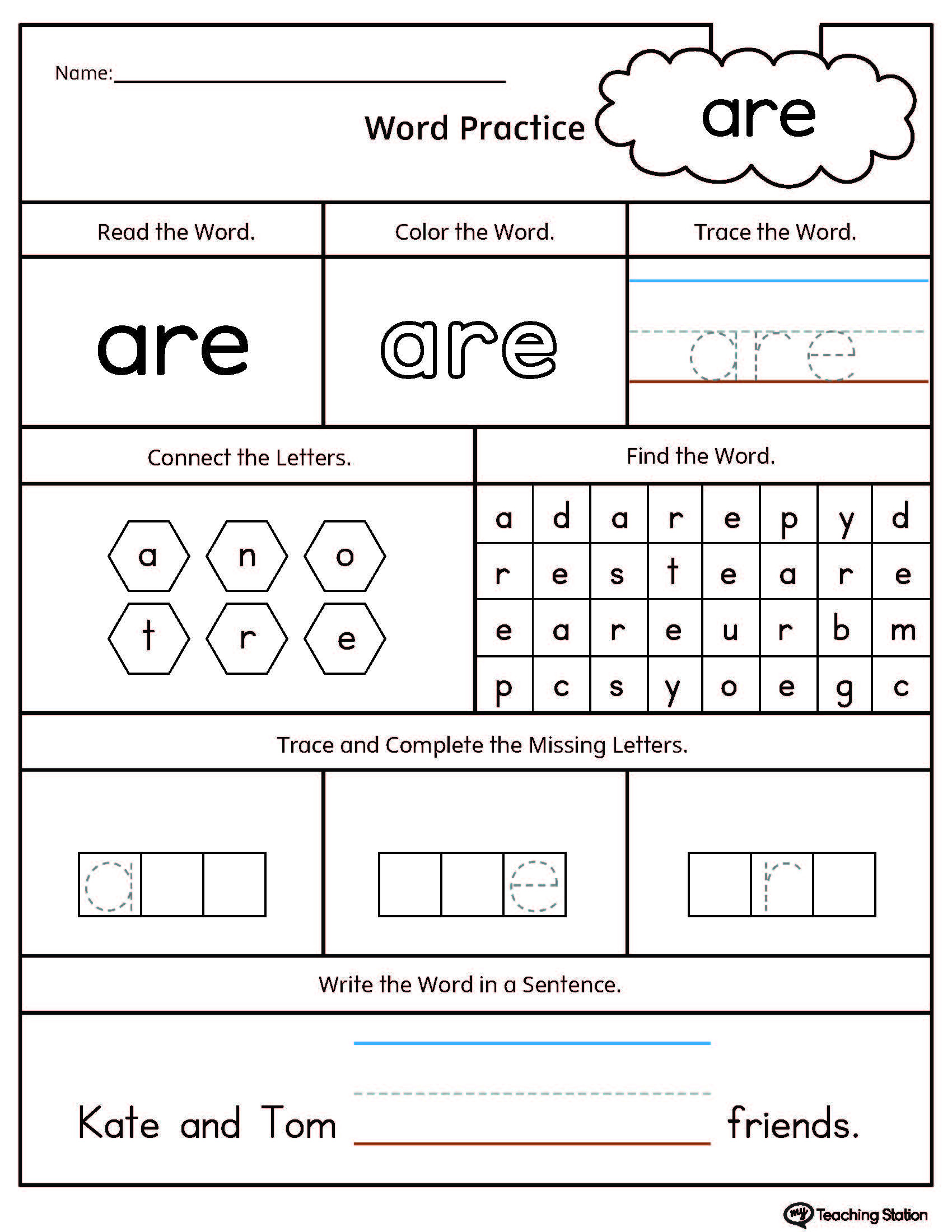 Positional Words Preschool Worksheets Kindergarten High Frequency Words Printable Worksheets