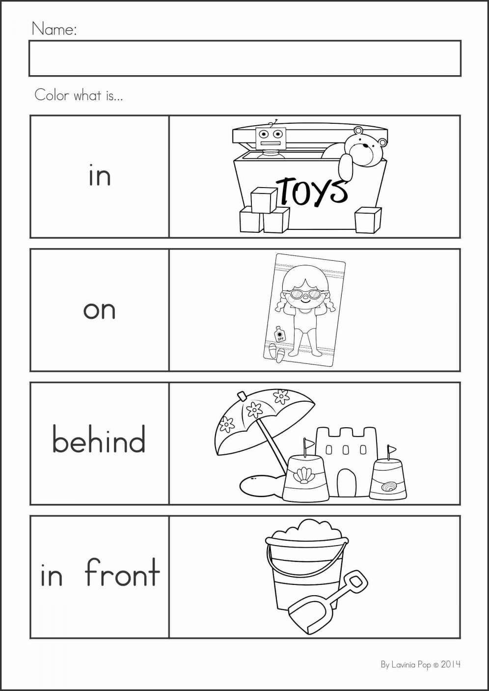 Positional Words Worksheets for Preschool Pin On Kindergarten Worksheet