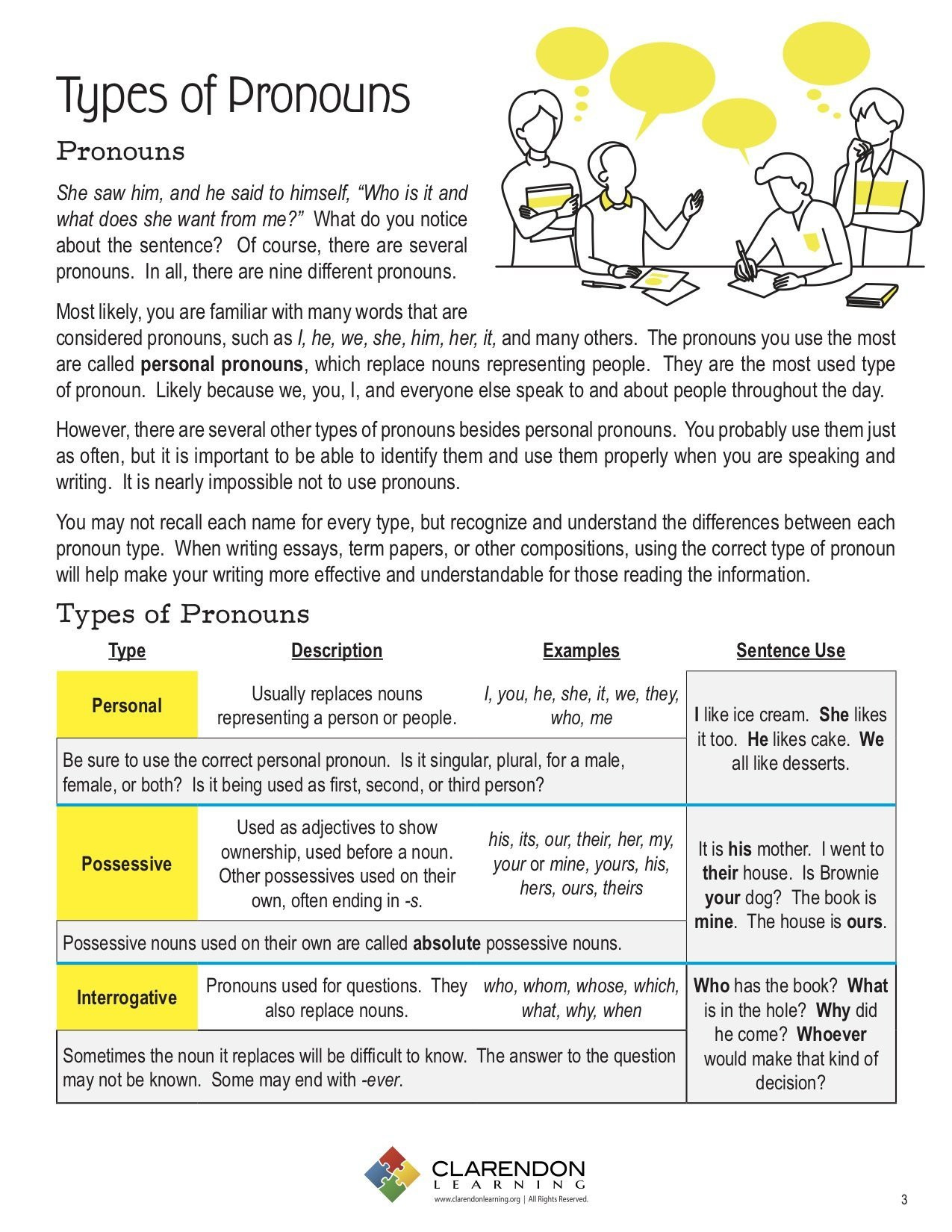 Possessive Pronouns Worksheet 5th Grade 5th Grade Grammar Worksheet Pronouns