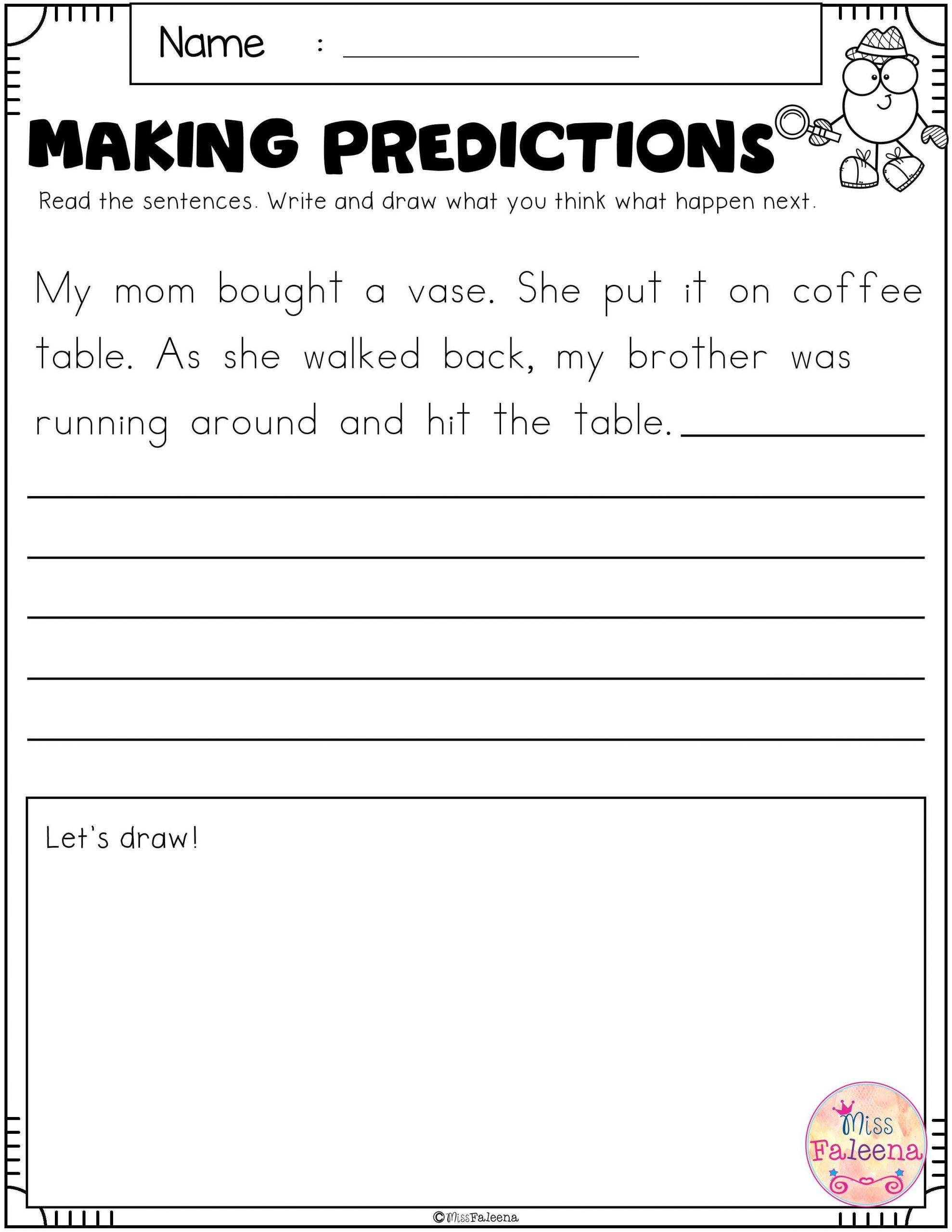 Prediction Worksheets 3rd Grade Free Making Predictions