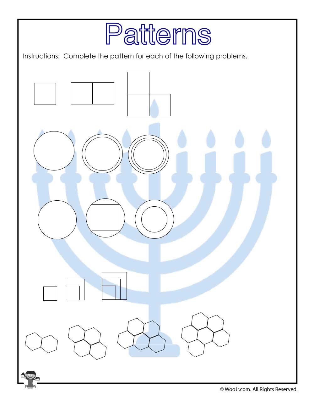 Prediction Worksheets 3rd Grade Visual Pattern Prediction Worksheet for 3rd Grade
