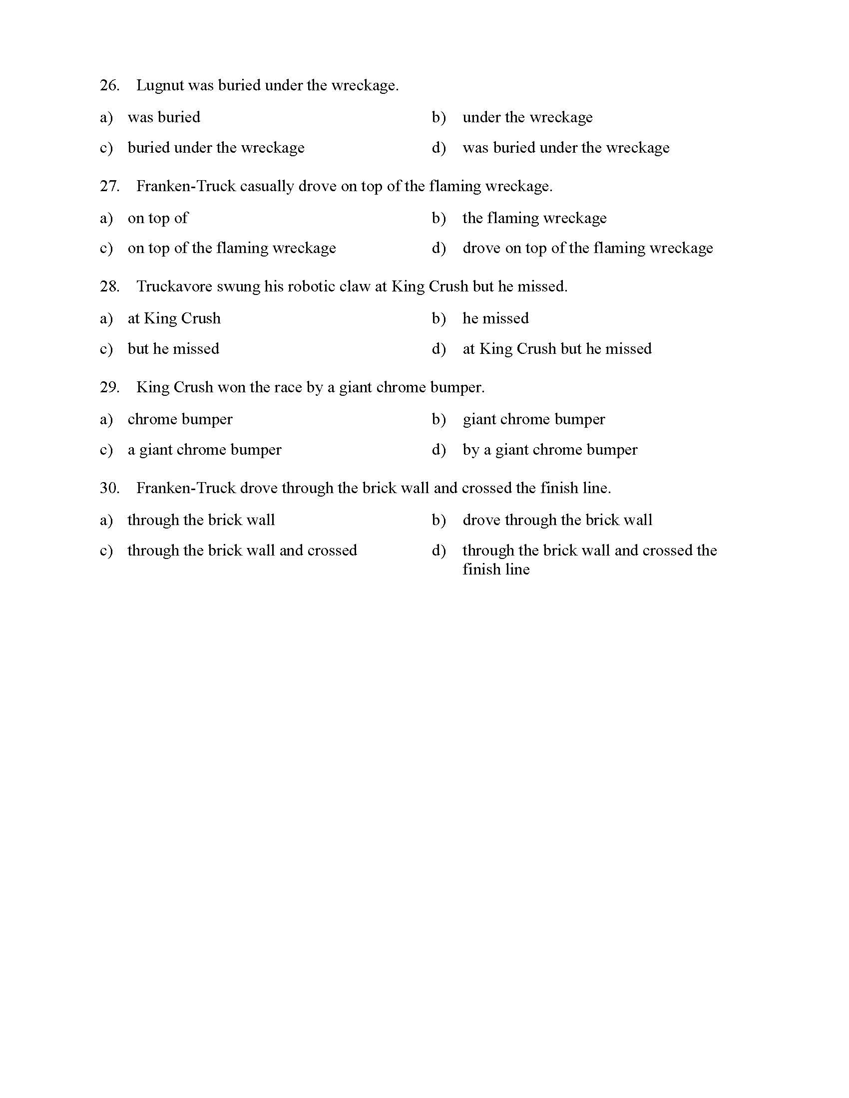 Prepositional Phrases Worksheet 6th Grade Educational Template Design Our story structure worksheets contain practice activities include using checklists, flow charts and guides to break a story in parts. prepositional phrases worksheet 6th