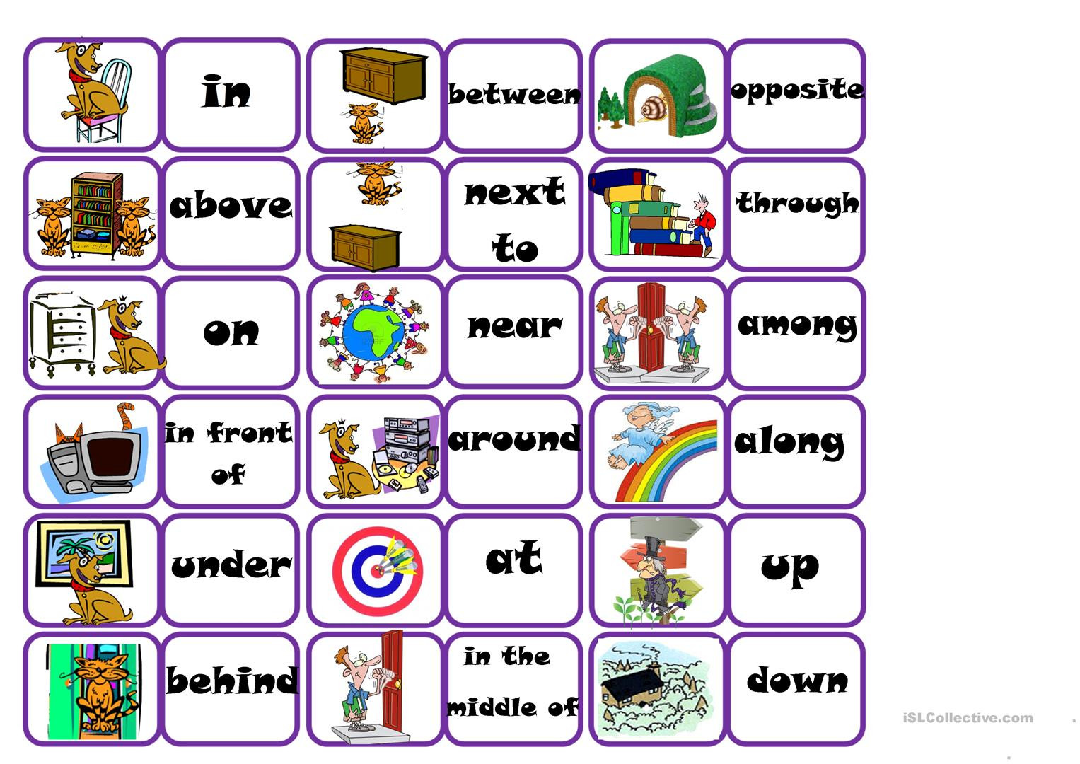 Prepositions Worksheets Middle School Prepositions Bingo English Esl Worksheets for Distance