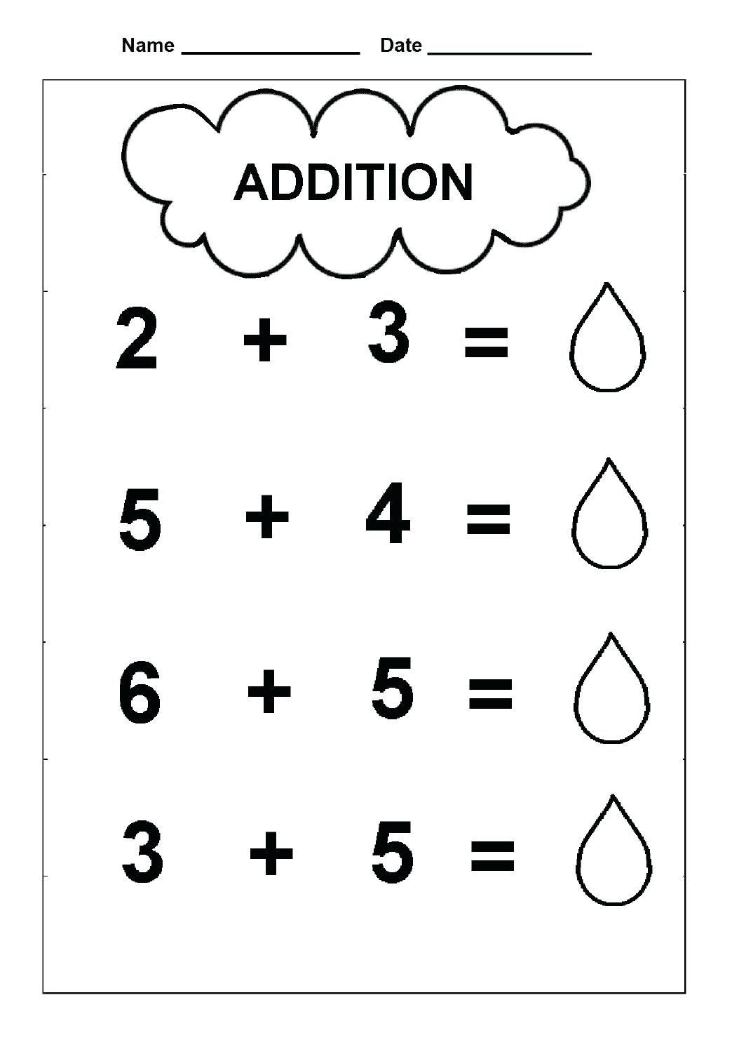 Preschool Addition Worksheets Printable Free Simple Addition Worksheets Math Free