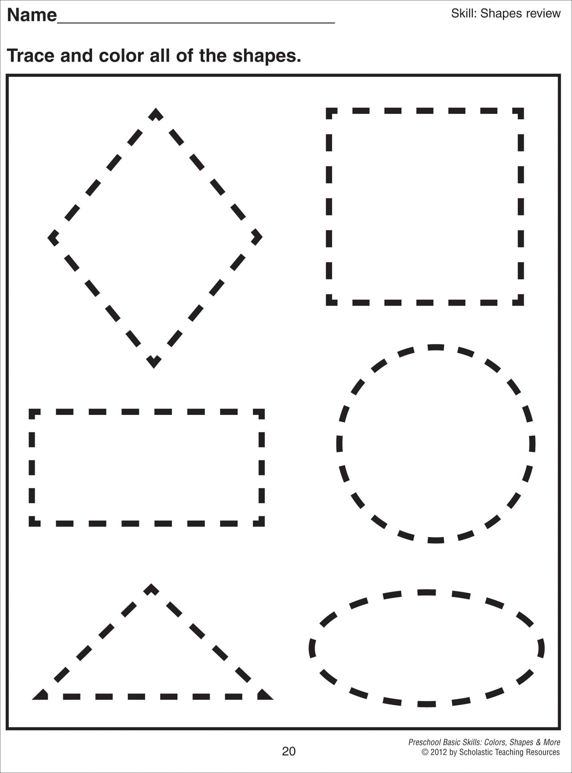 Preschool Diamond Shape Worksheets Math Worksheet 1000 Images About Preschool Shapes On