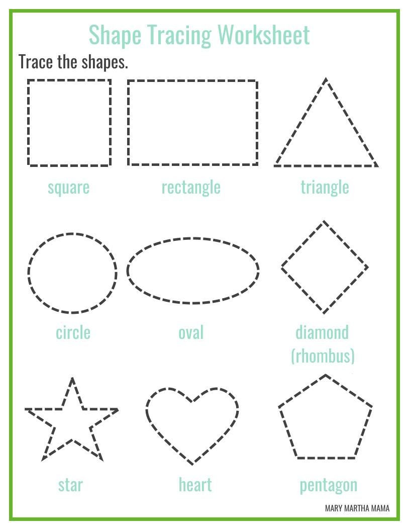 Preschool Diamond Shape Worksheets Shapes Worksheets for Preschool [free Printables]