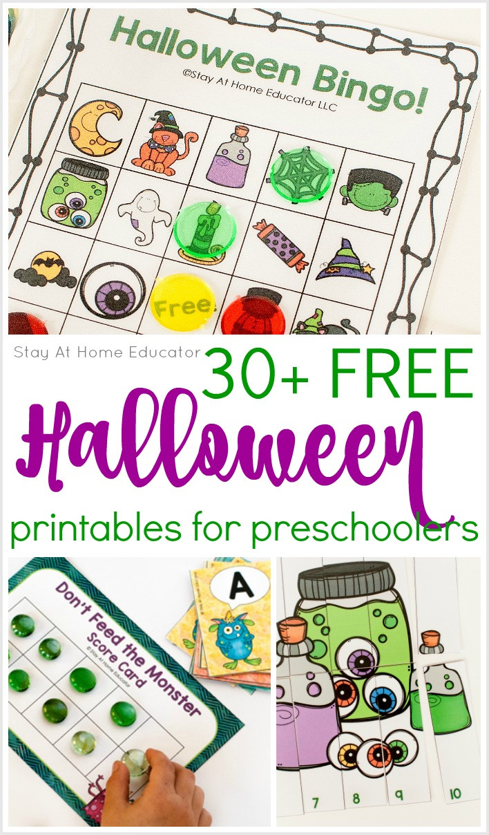 Preschool Halloween Worksheets Free 30 Free Halloween Printables for Preschool Stay at Home