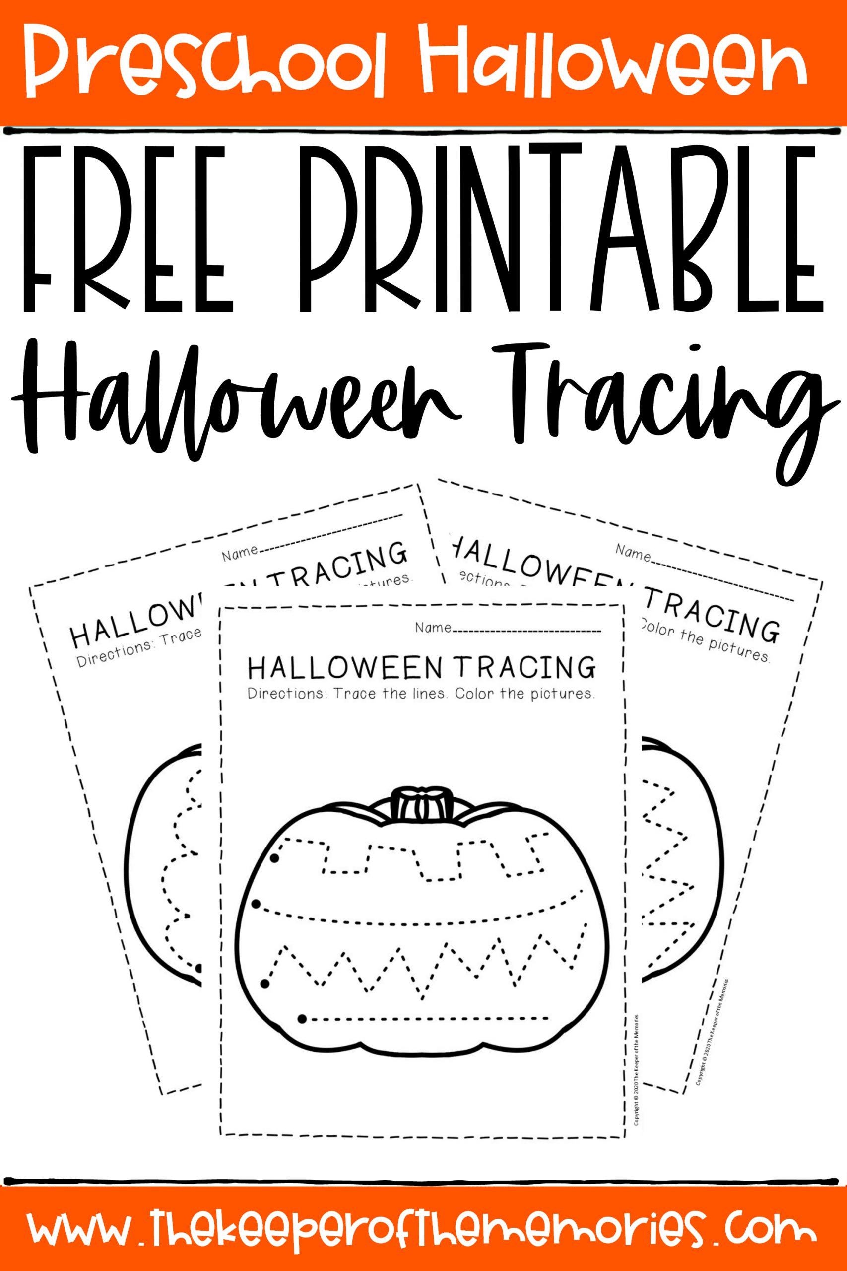 Preschool Halloween Worksheets Free Free Printable Tracing Halloween Preschool Worksheets the