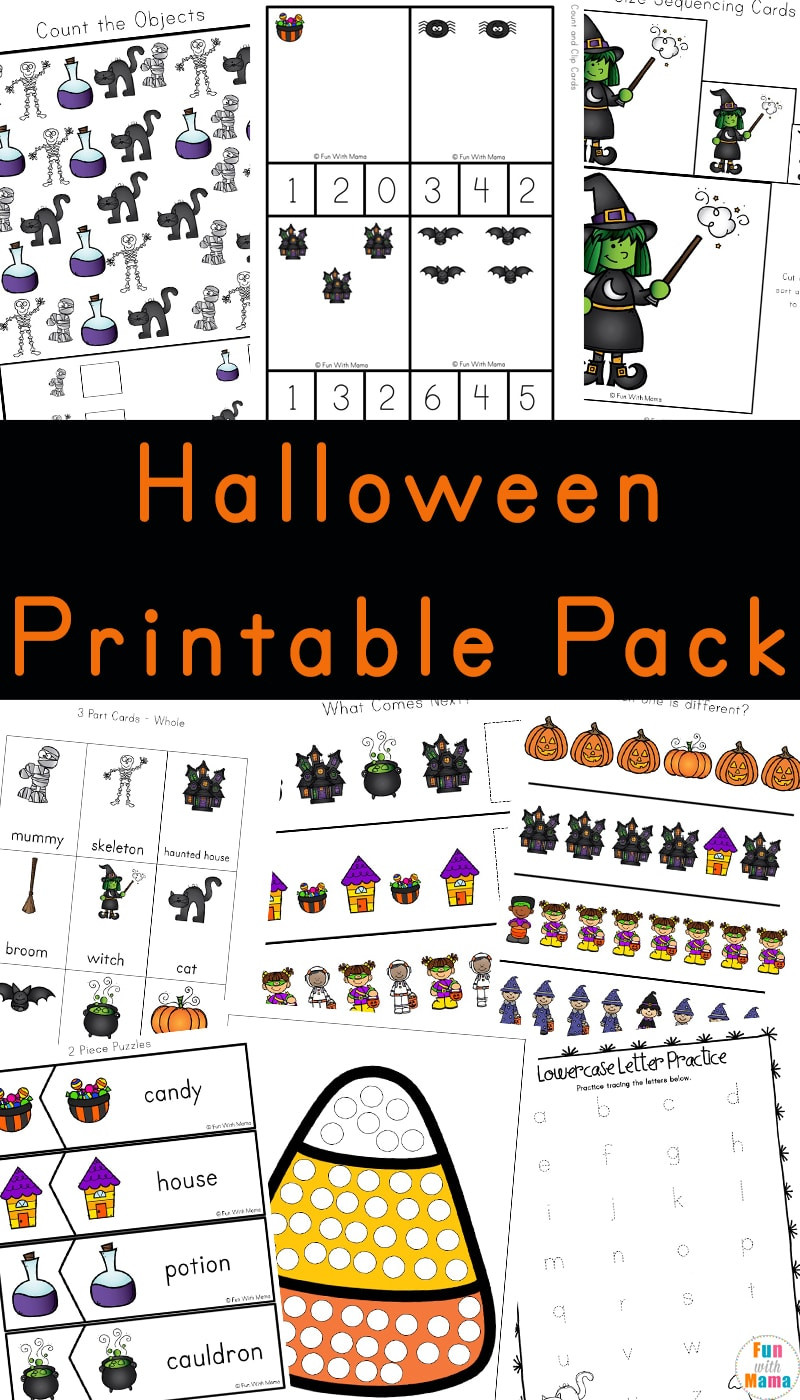 Preschool Halloween Worksheets Free Math Worksheet 42 Printable Activities for Preschoolers