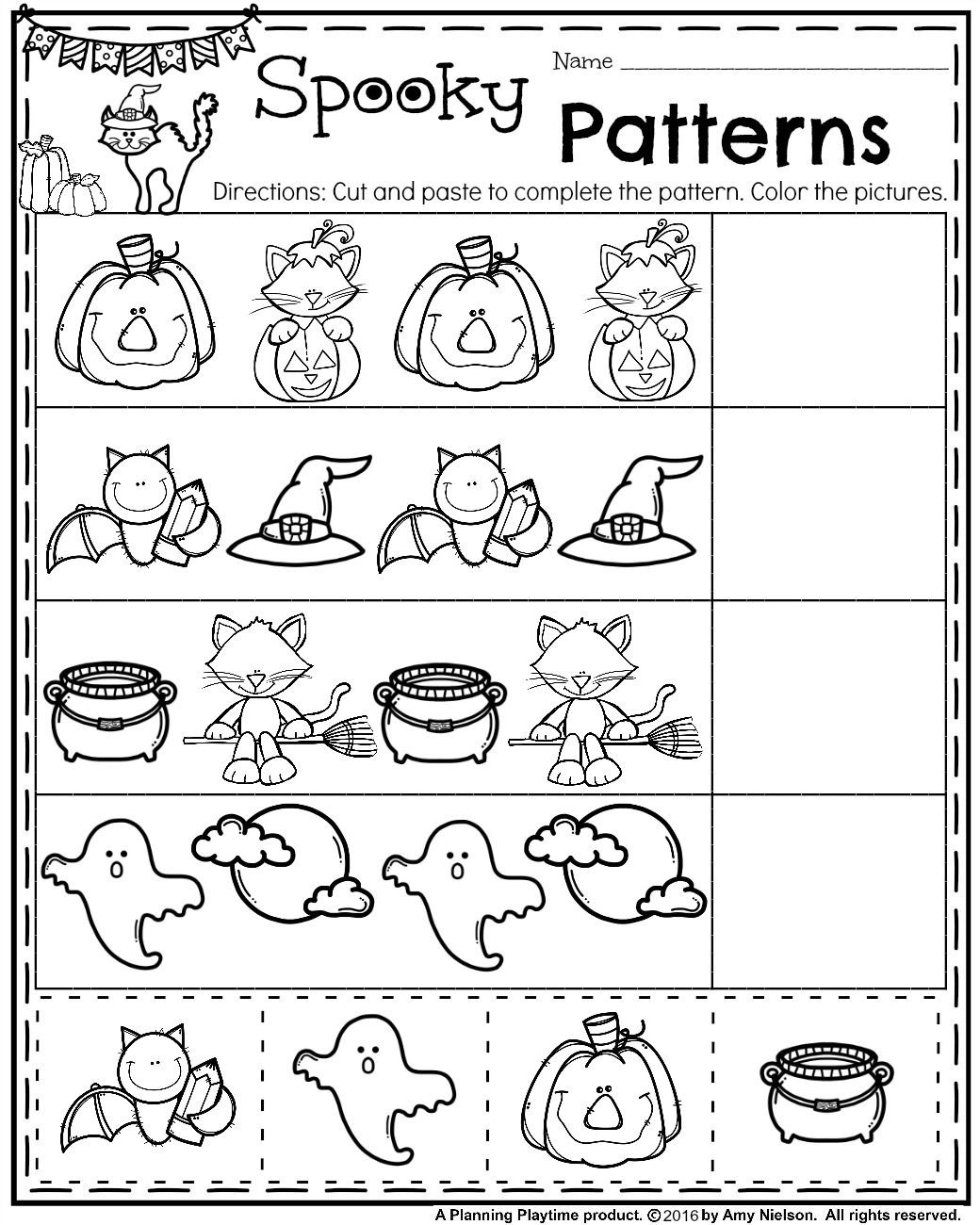 Preschool Halloween Worksheets Free October Preschool Worksheets