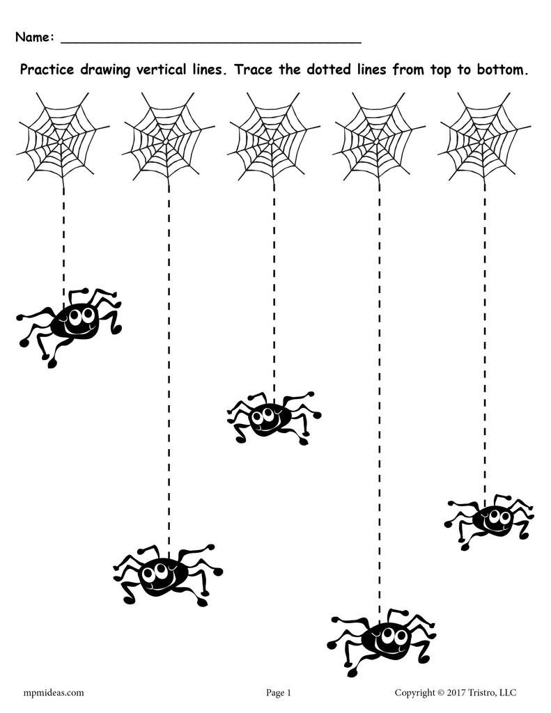 Preschool Halloween Worksheets Free Printable Halloween Line Tracing Worksheets