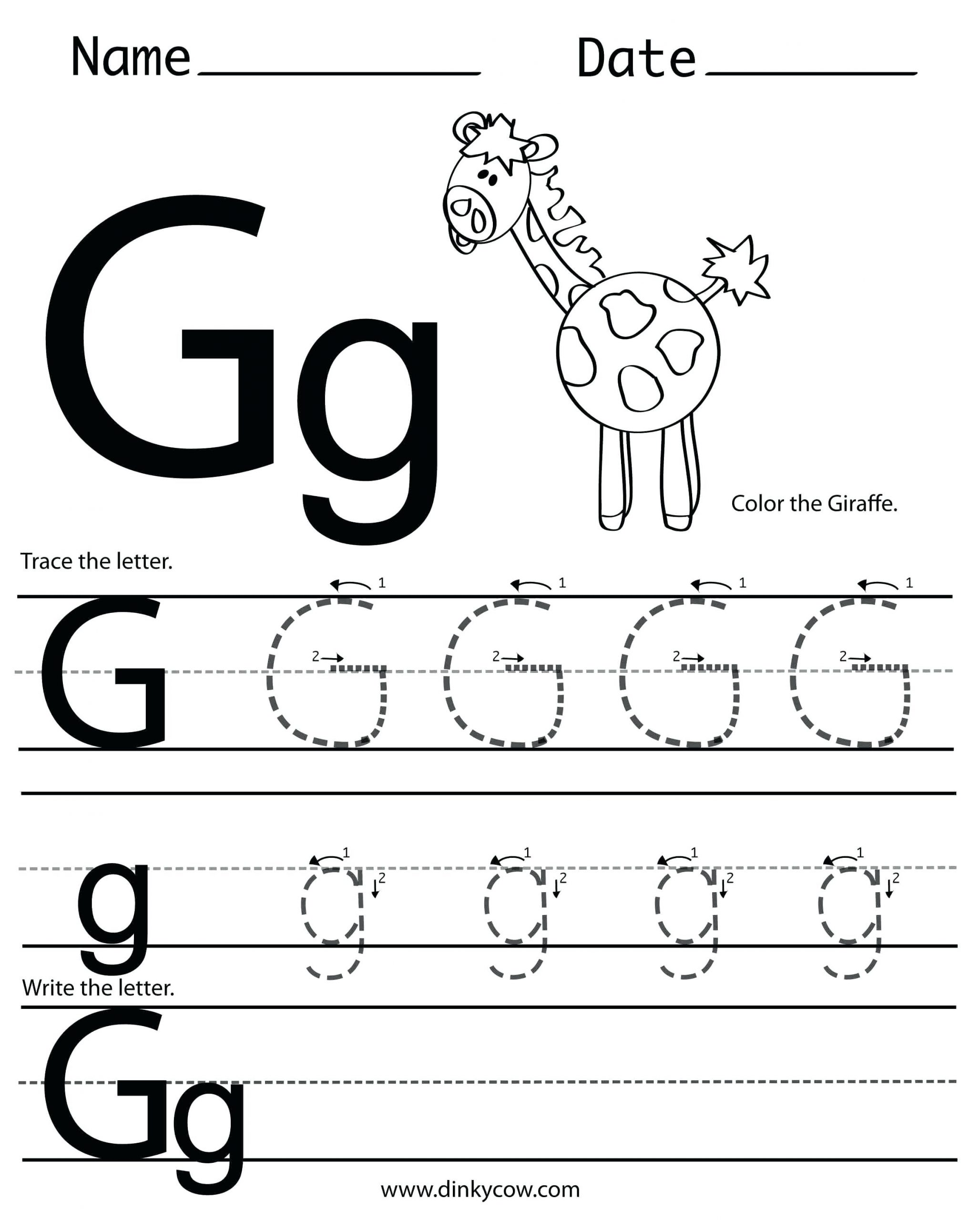 Preschool Letter G Worksheets Letter G Preschool Preschool Letter the Week G Craft