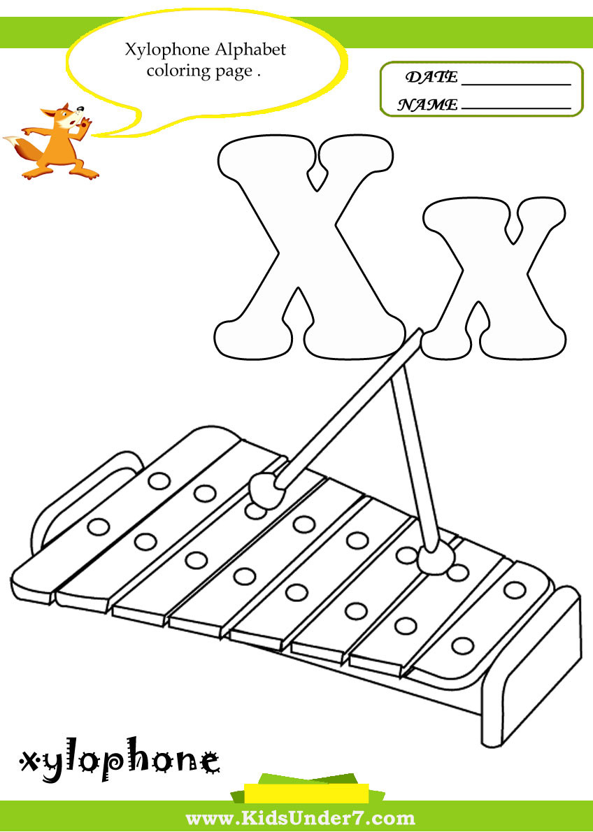 Preschool Letter X Worksheets Kids Under 7 Letter X Worksheets and Coloring Pages