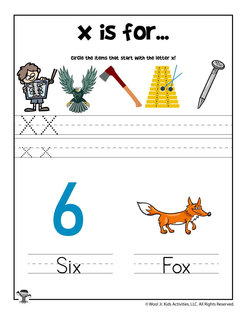 Preschool Letter X Worksheets Letter X Phonics Recognition Worksheet