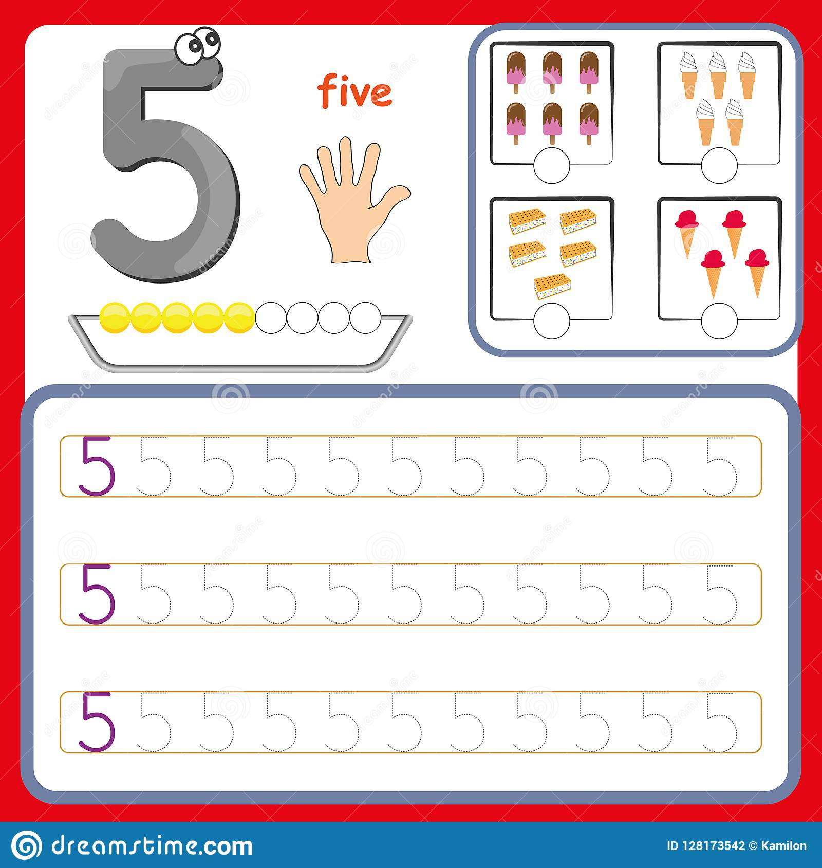 Preschool Number Tracing Number Cards Counting and Writing Numbers Learning Numbers