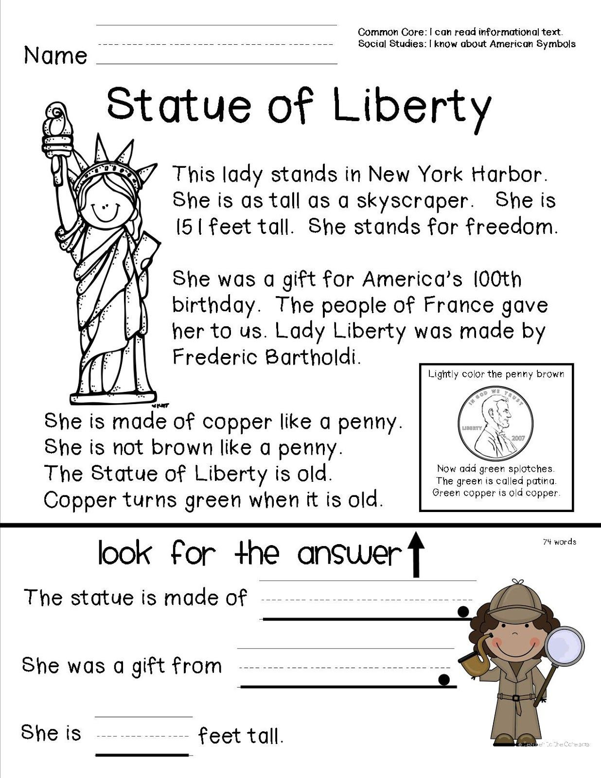 Preschool social Studies Worksheets American Symbols