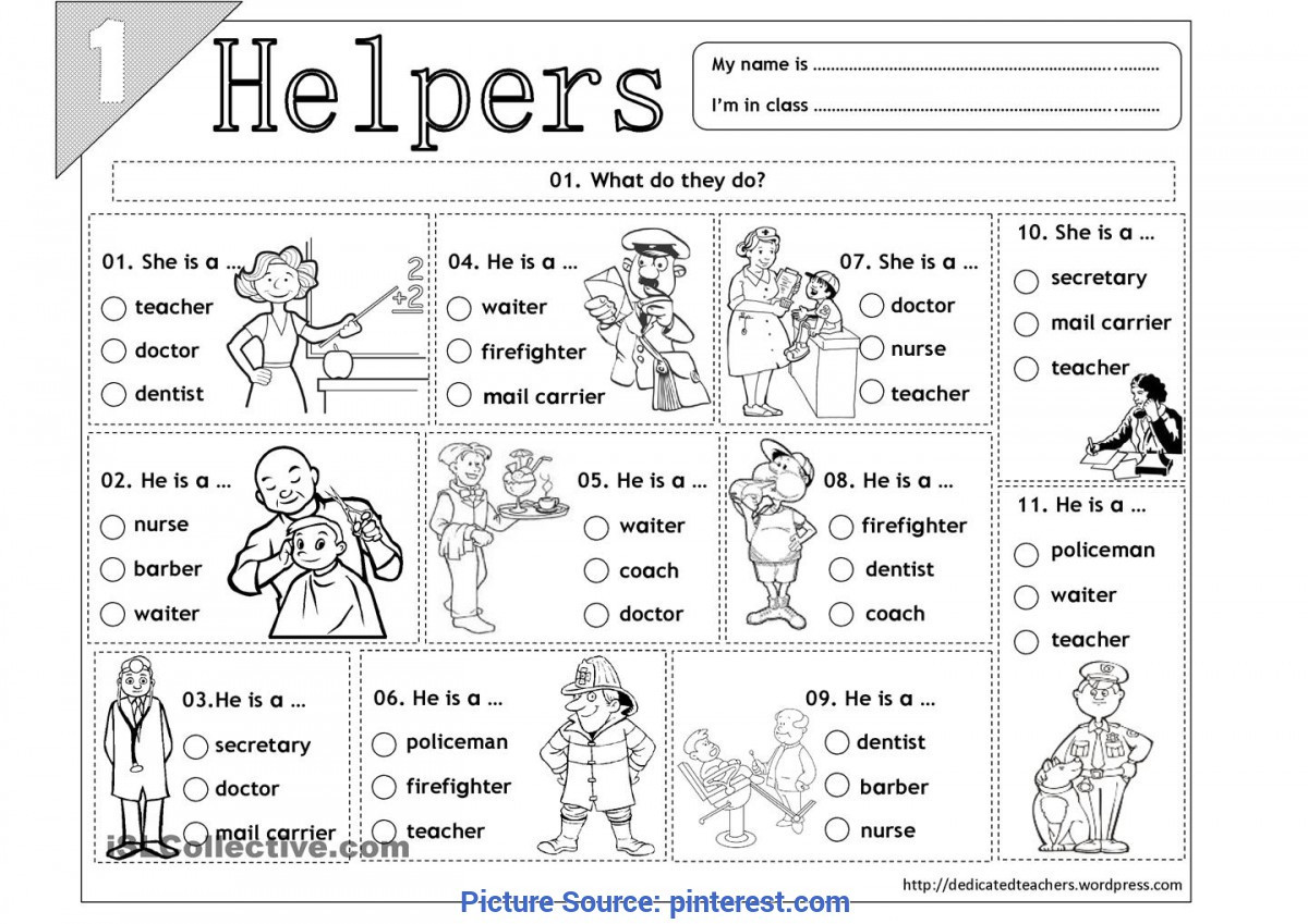 Preschool social Studies Worksheets Valuable Our Helpers Worksheet Kindergarten social Stu S