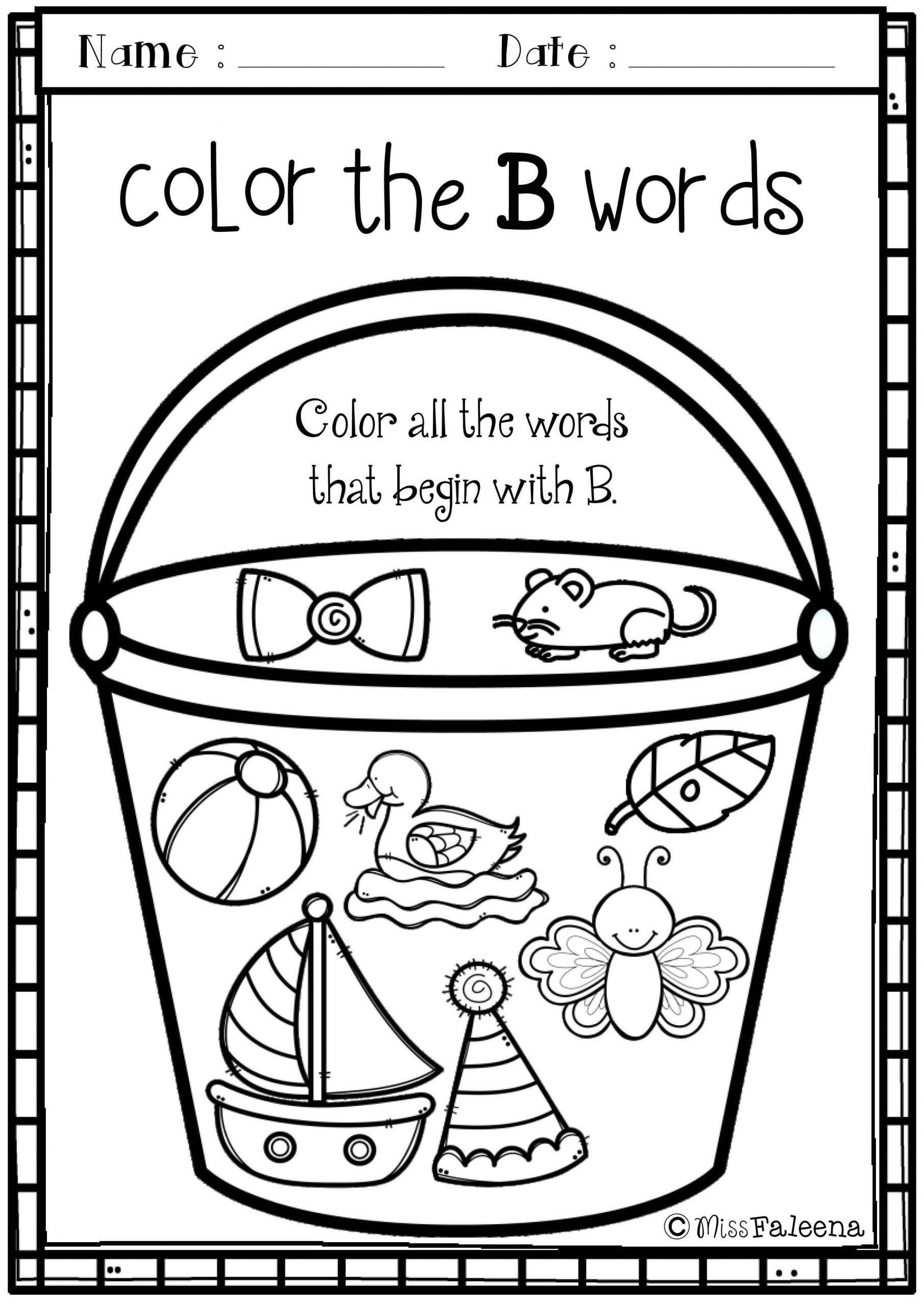 Preschool Worksheets Letter B Alphabet Letter Of the Week B