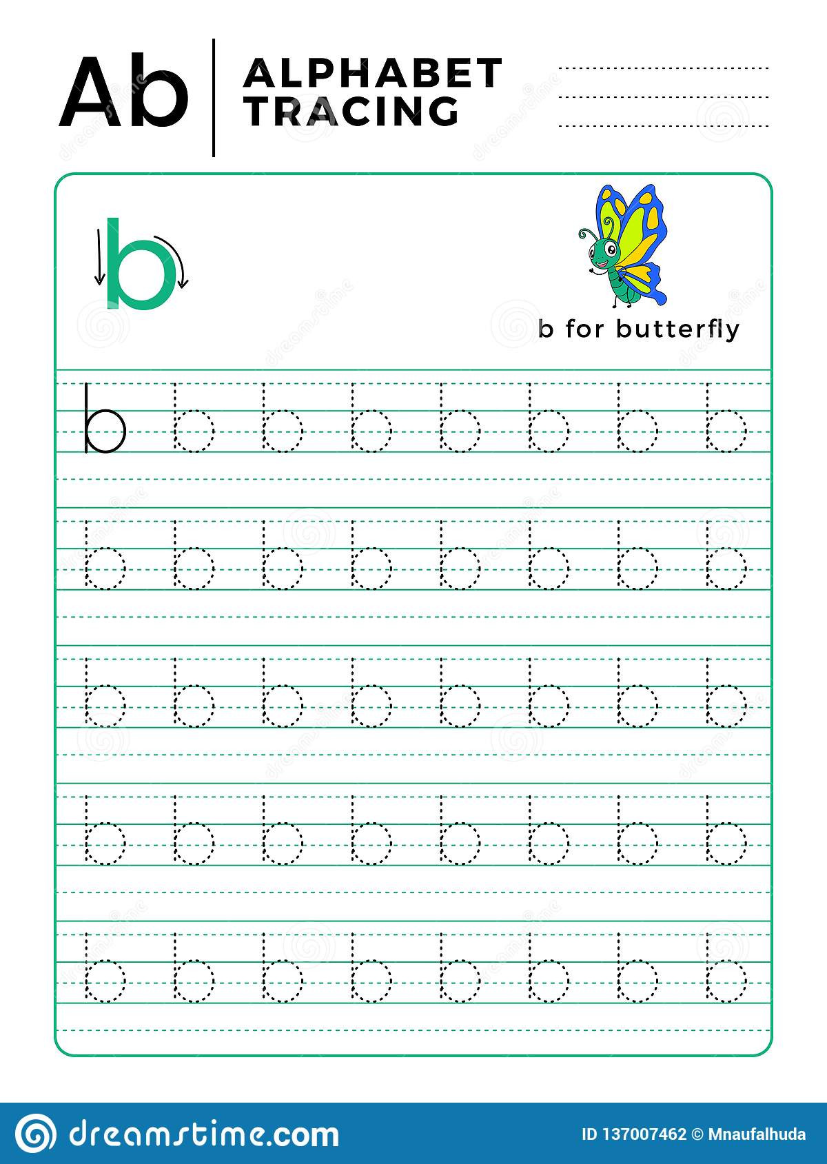 Preschool Worksheets Letter B Letter B Alphabet Tracing Book with Example and Funny