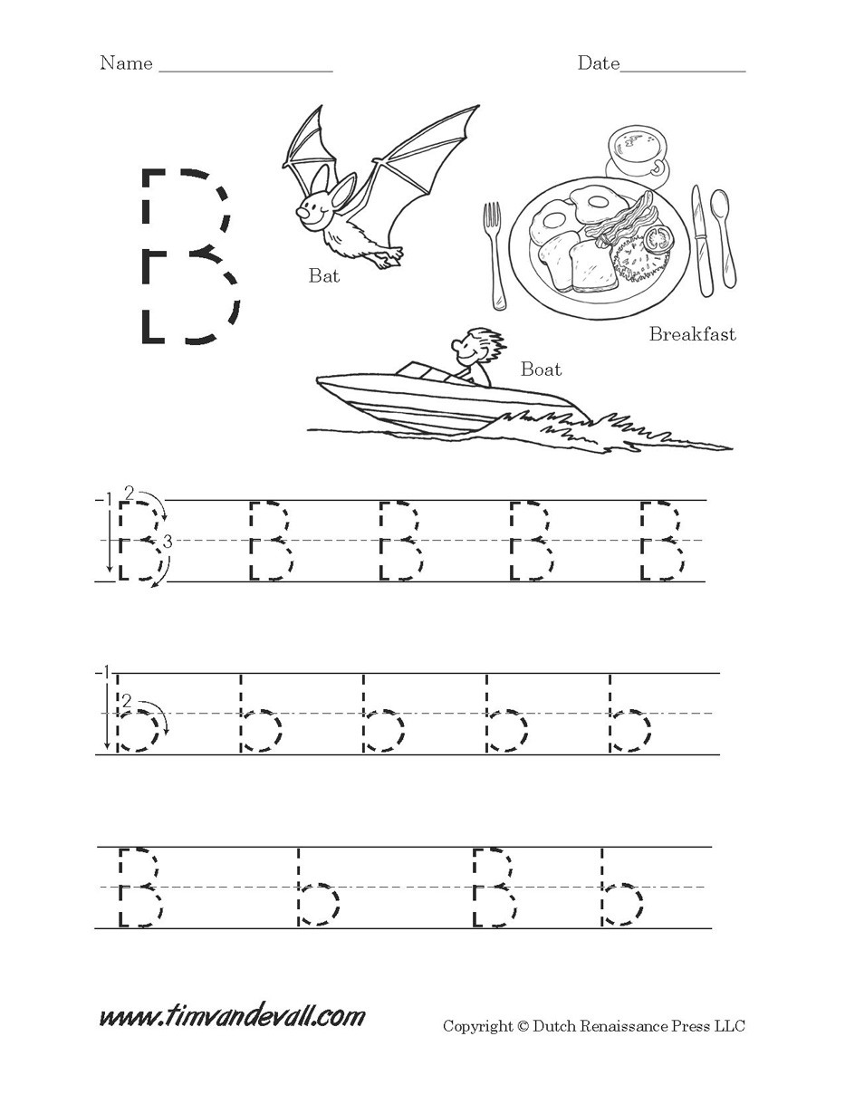 Preschool Worksheets Letter B Letter B Worksheets