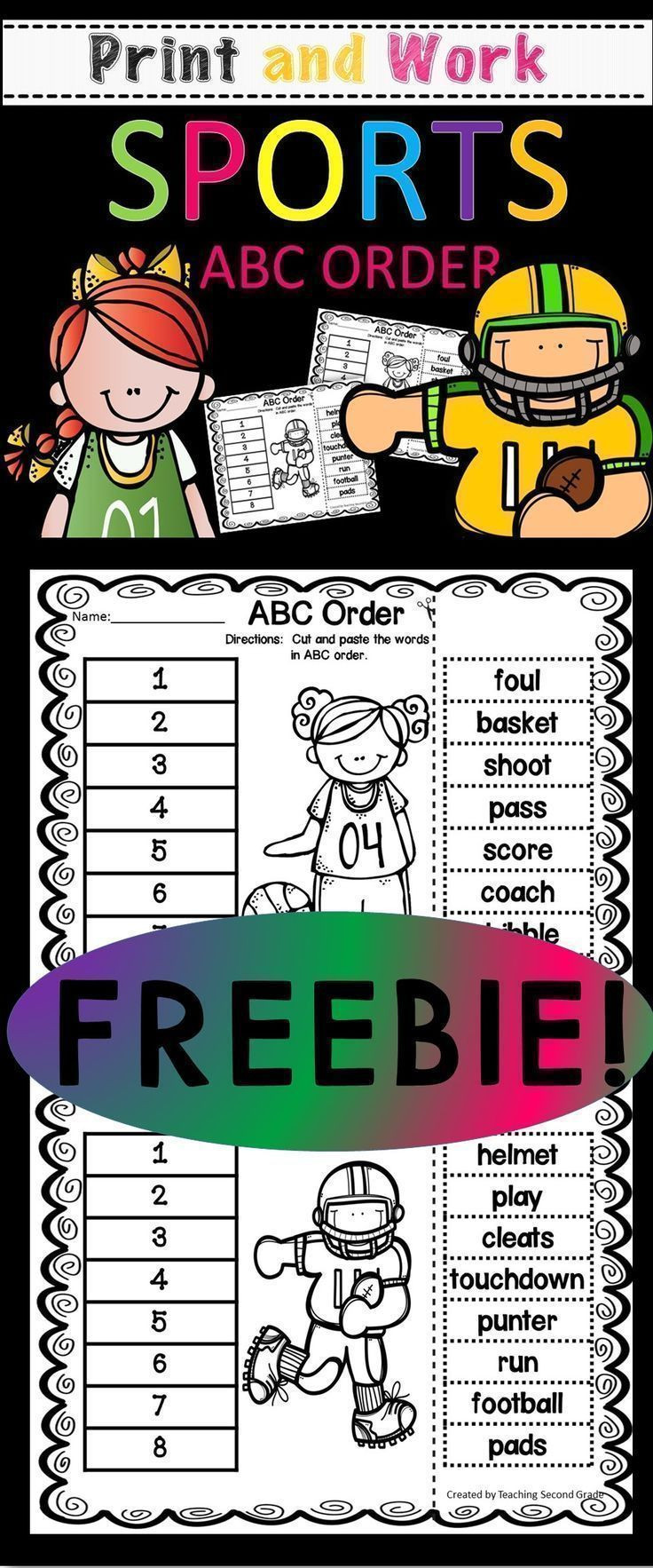 Printable Abc order Worksheets Abc order Worksheets