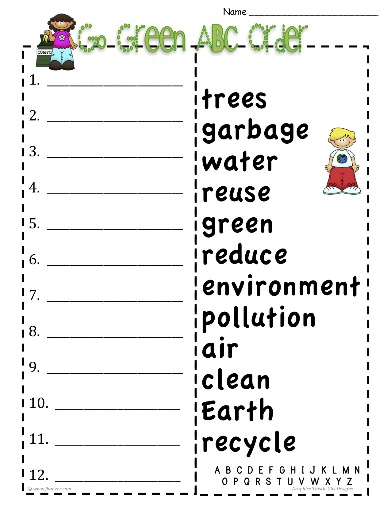 Printable Abc order Worksheets Alphabetical order Homework School Tagline Here