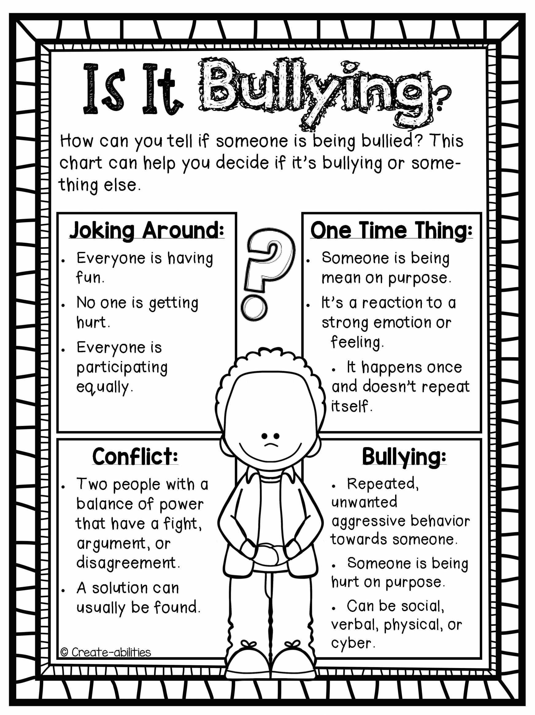 Printable Bullying Worksheets Kindergarten Worksheet Template Anti Bullying Worksheets