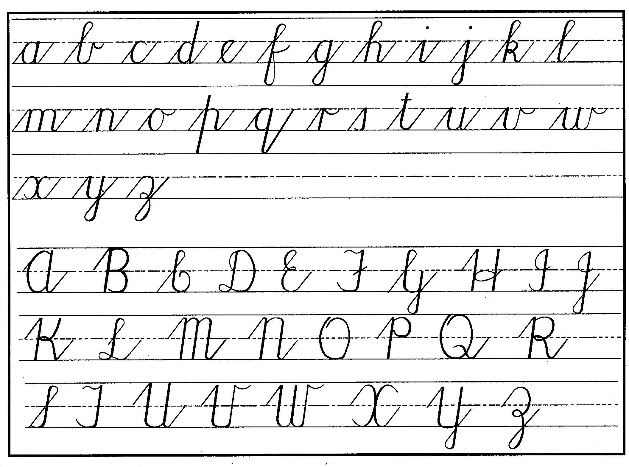 Printable Cursive Alphabet Chart Cursive Handwriting Step by Step for Beginners