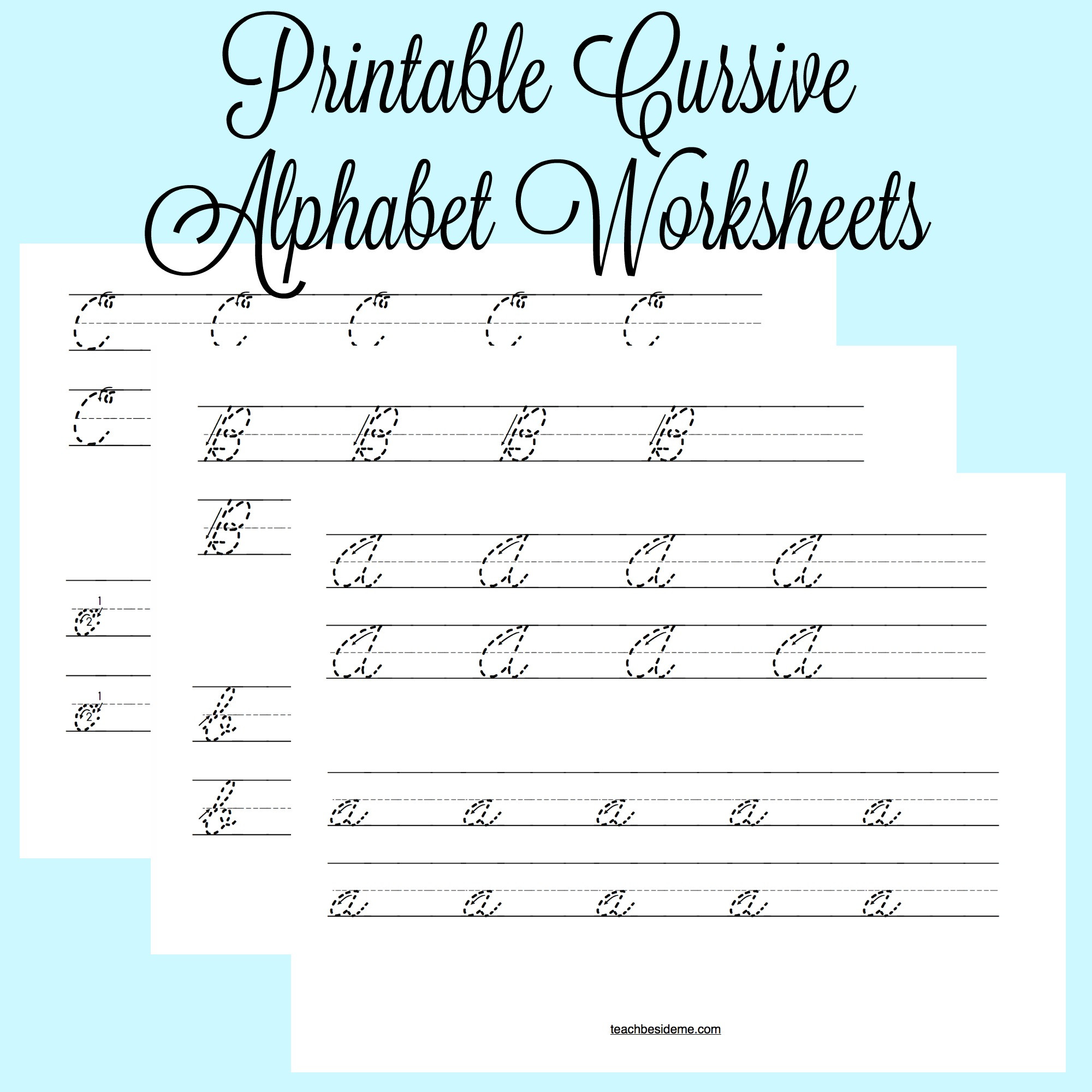 Printable Cursive Alphabet Chart Math Worksheet Printable Cursive Alphabet Practice Sheets