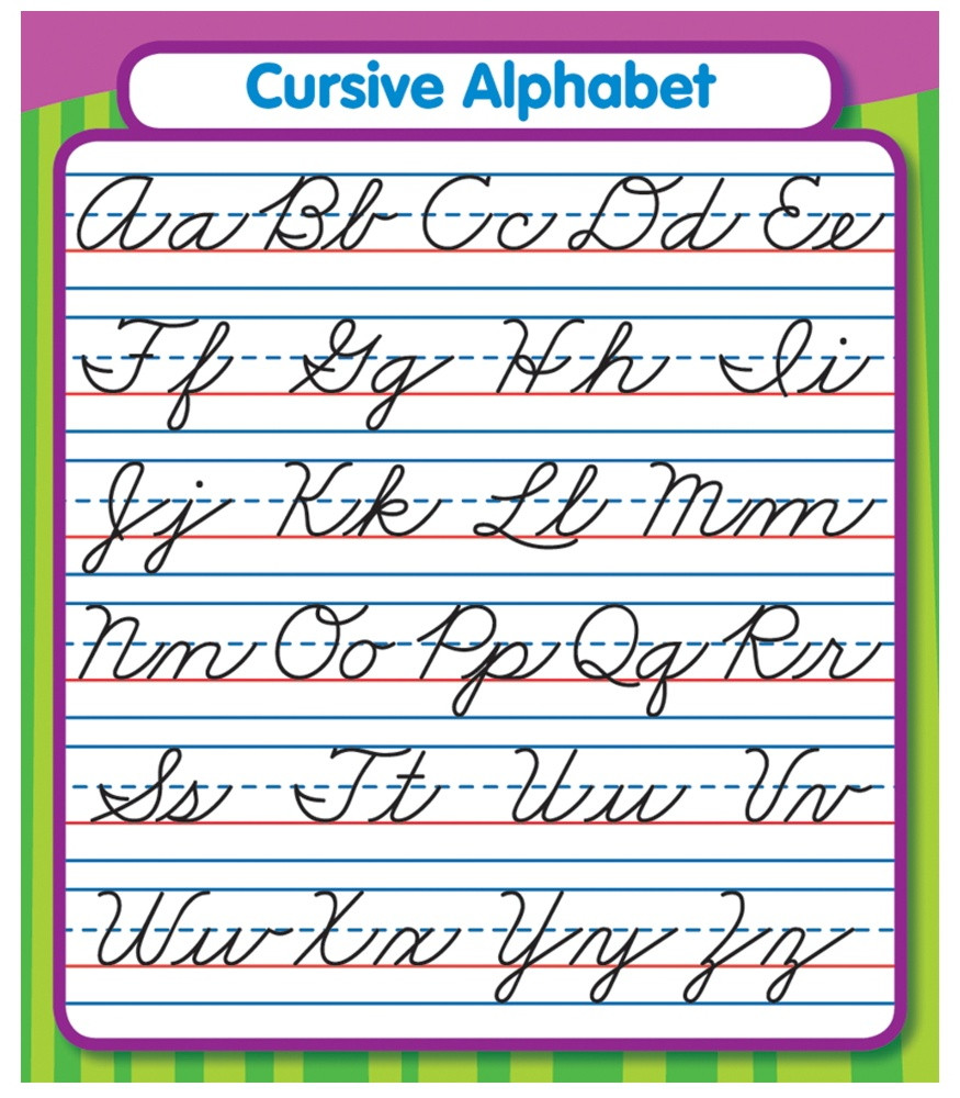 Printable Cursive Alphabet Chart Worksheet Worksheet Free Printable Cursive Alphabet Chart