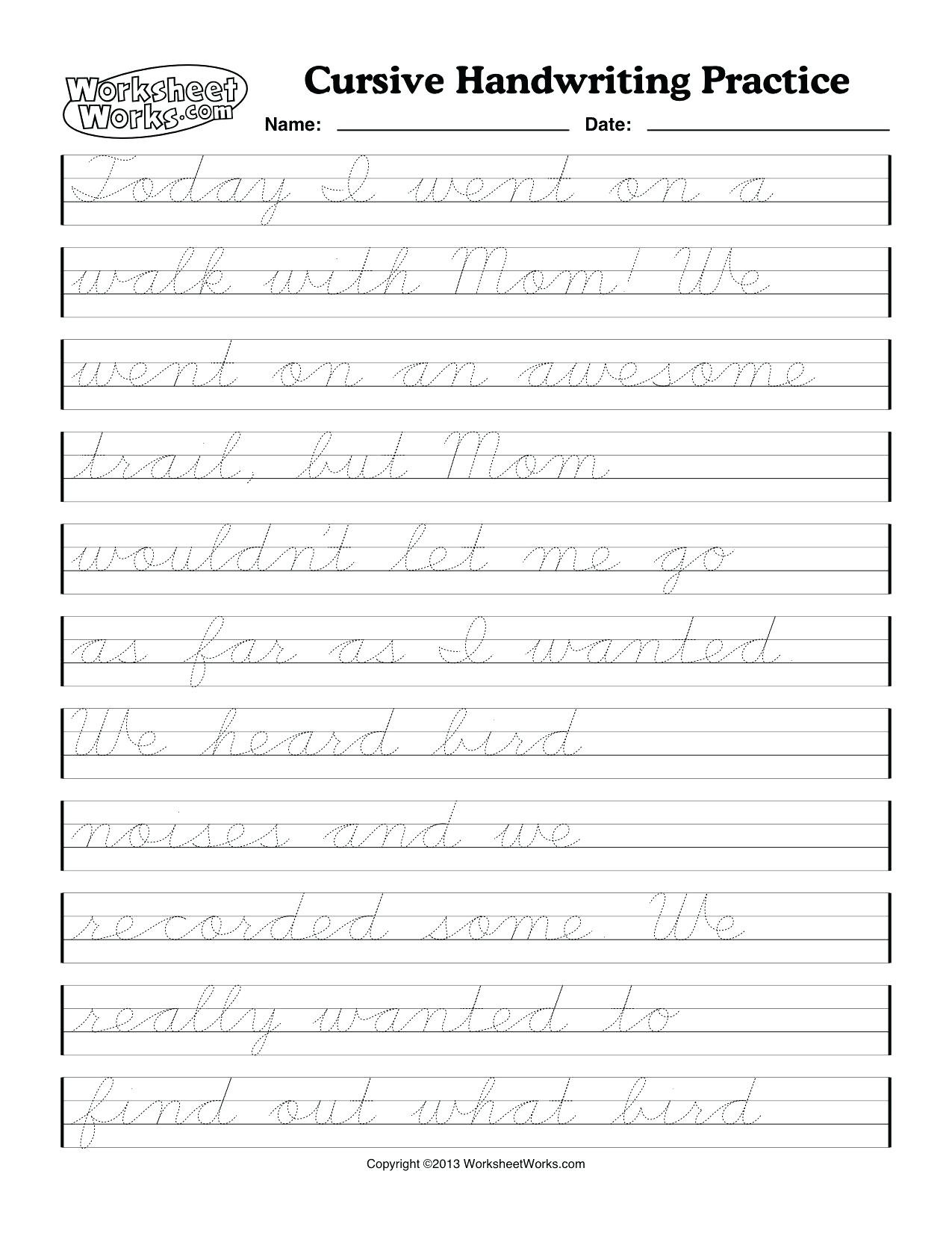 Printable Cursive Writing Worksheets Pdf Math Worksheet Awesome Worksheets forrsive Writing