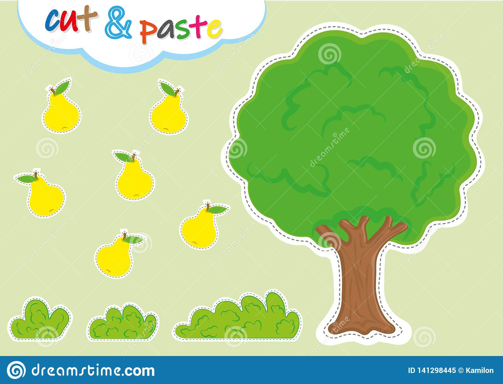 Printable Cut and Paste Worksheets Cut and Paste Activities for Kindergarten Preschool Cutting