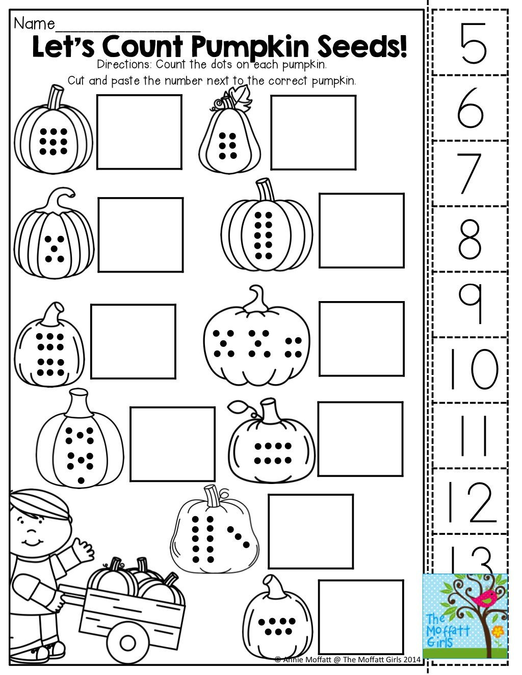 Printable Cut and Paste Worksheets October Fun Filled Learning Resources