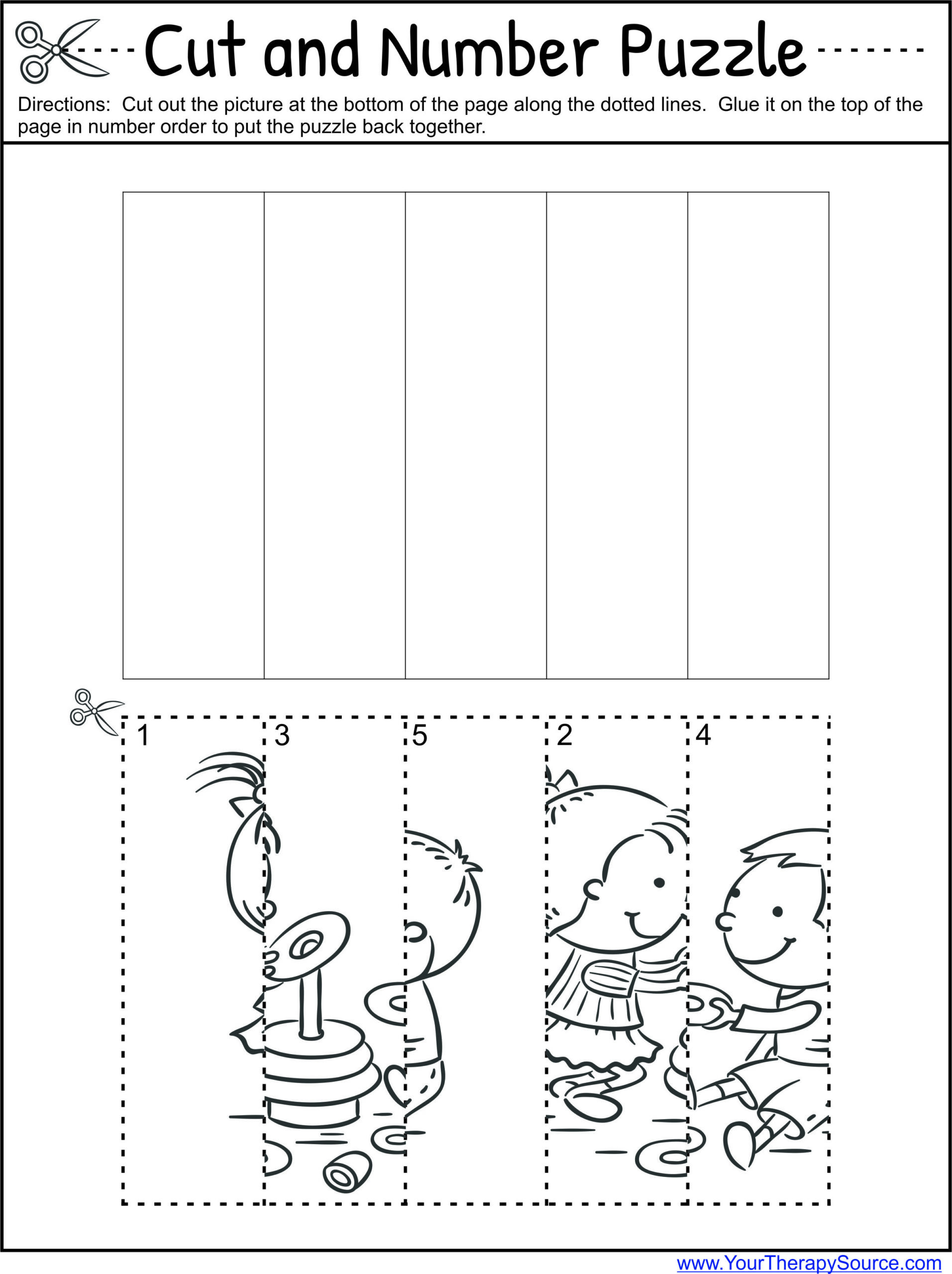 Printable Cut and Paste Worksheets Preschool Worksheets Cut and Paste