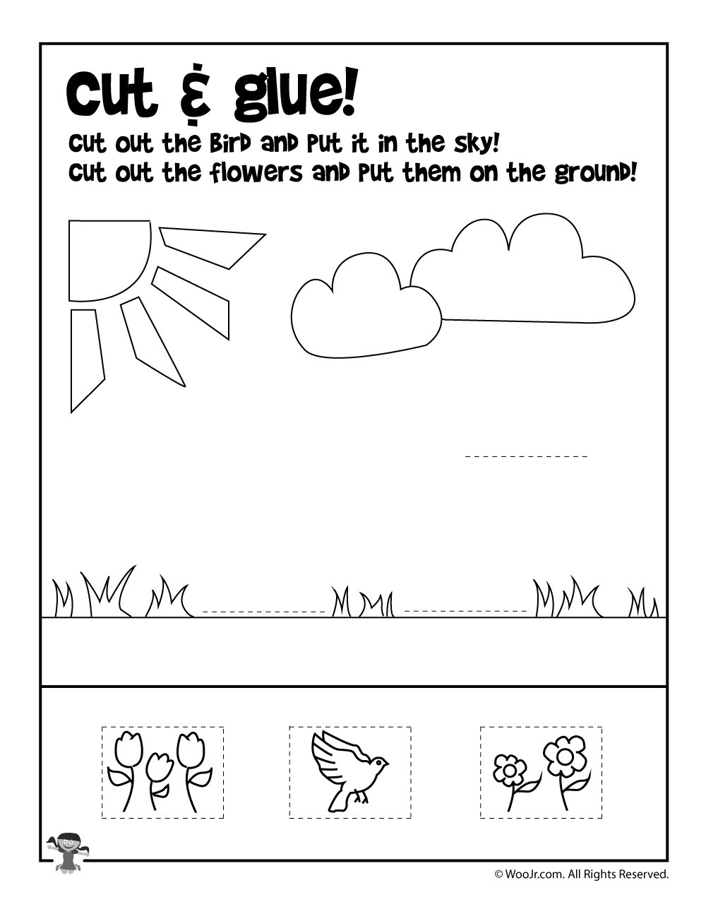 Printable Cut and Paste Worksheets Summer Cut and Paste Worksheet
