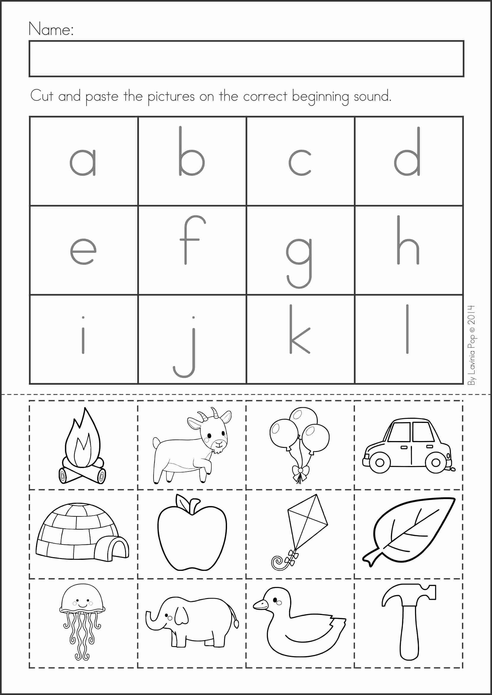 Printable Cutting Worksheets for Preschoolers Summer Review Kindergarten Math & Literacy Worksheets