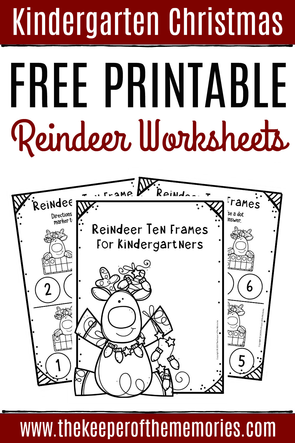 Printable Following Directions Worksheets Free Printable Reindeer Ten Frame Kindergarten Worksheets