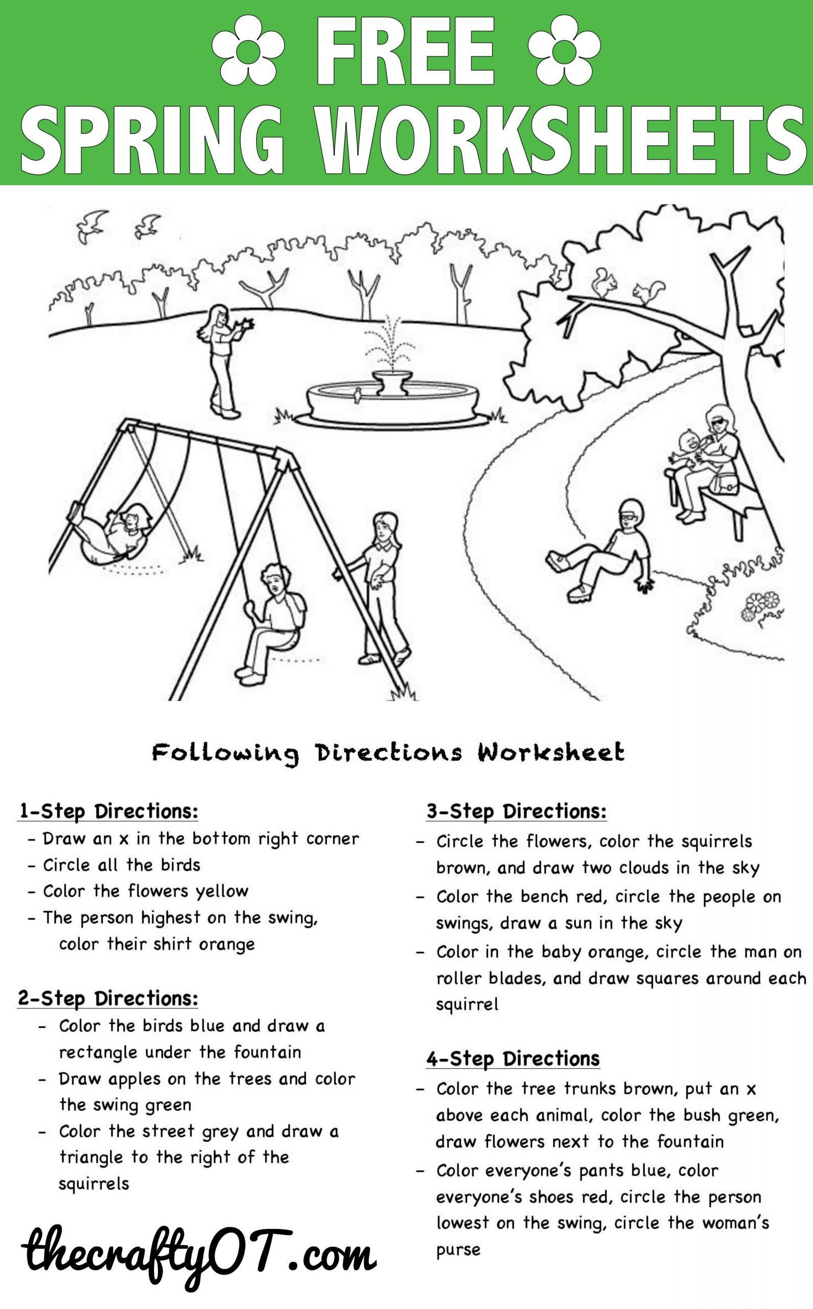 Printable Following Directions Worksheets Pin On Kindergarten Worksheets Free Printable