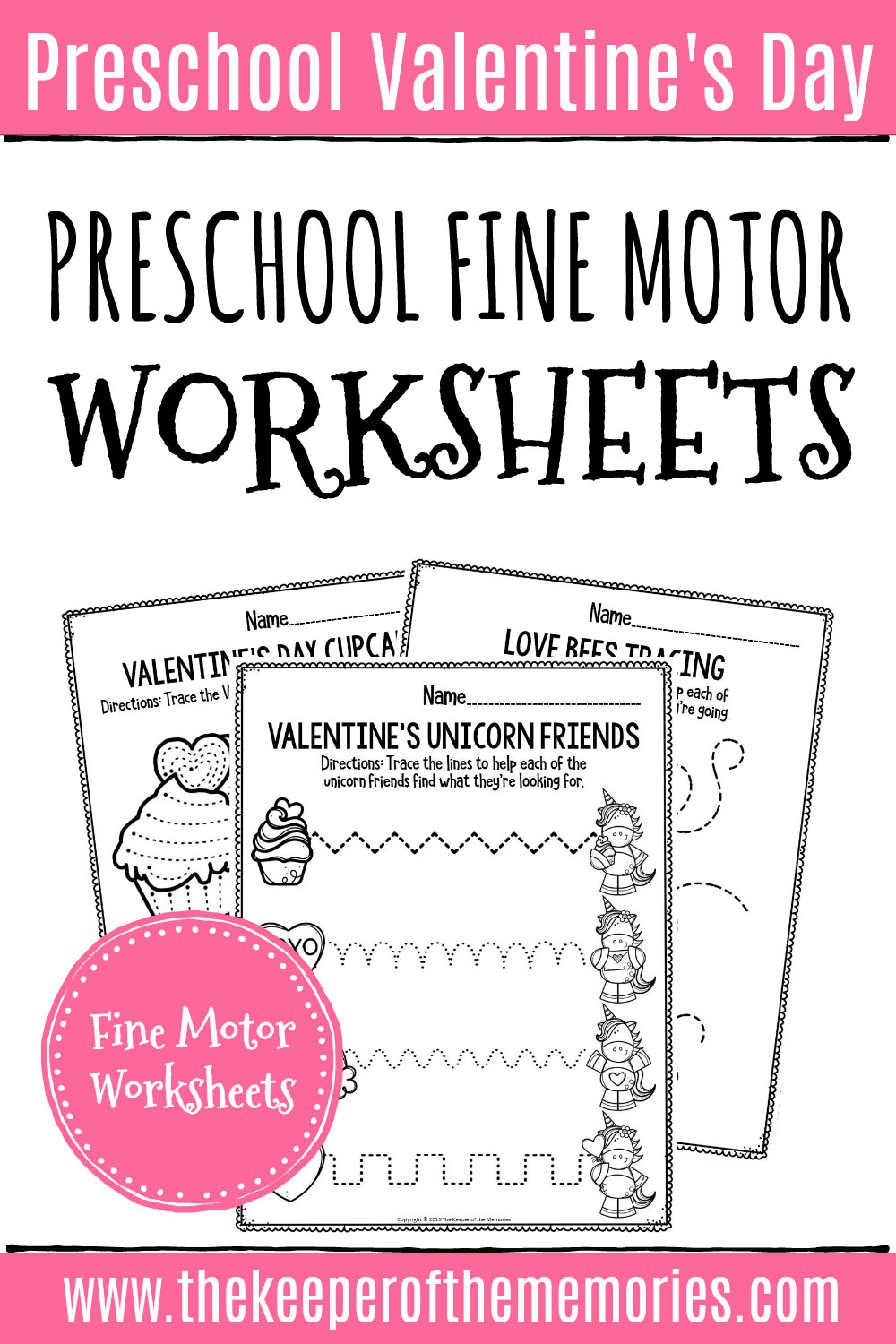 Printable Following Directions Worksheets Printable Fine Motor Valentine S Day Preschool Worksheets