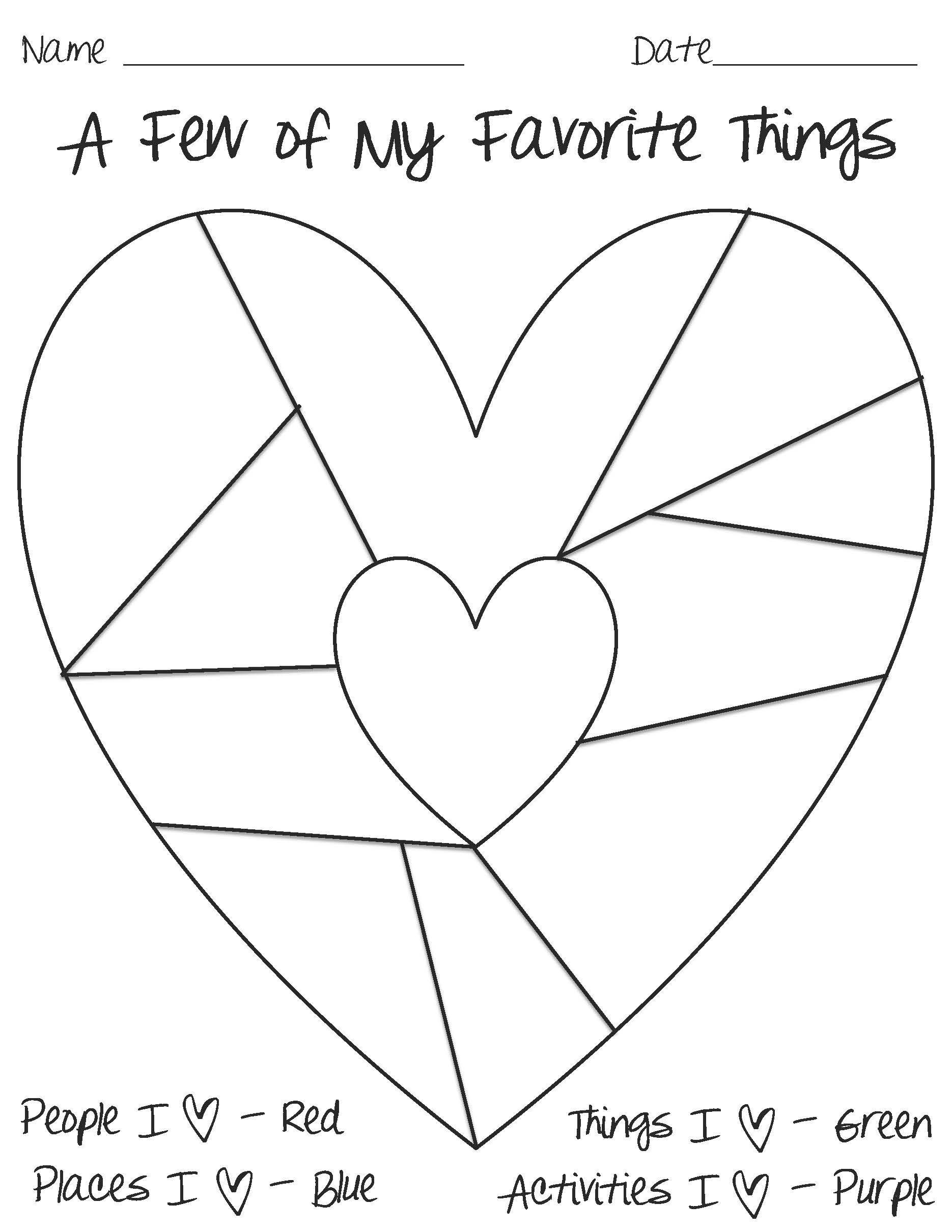 Printable Heart Diagram Grade School Heart Worksheets