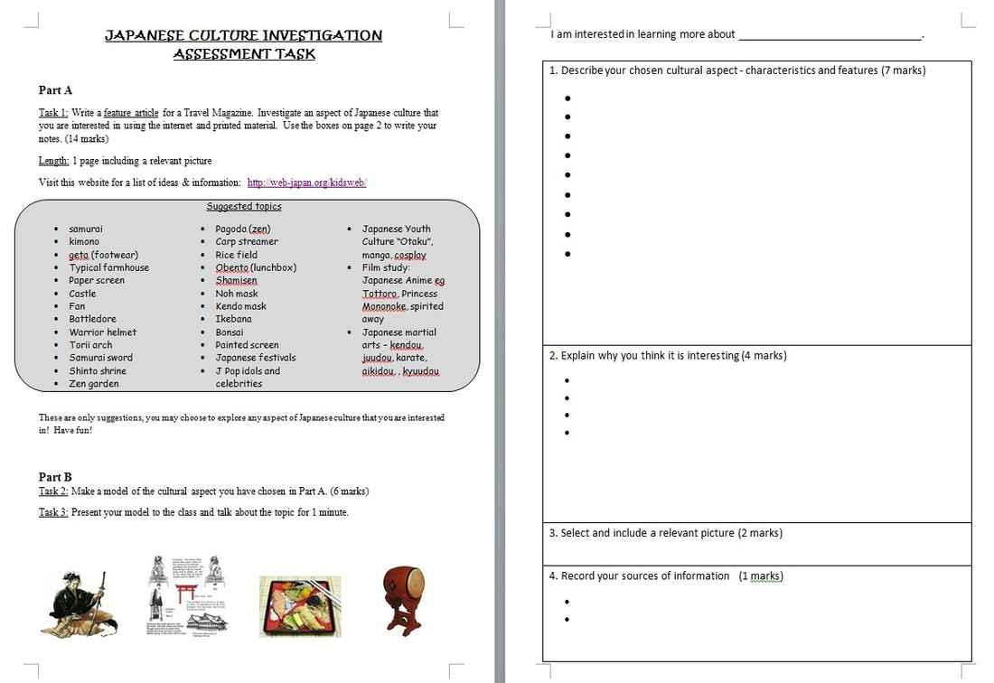 Printable Japanese Worksheets Festivals & Culture Japanese Teaching Ideas