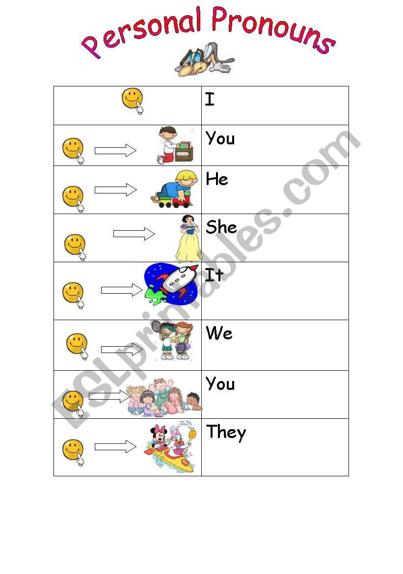 Printable Pronouns Worksheets Personal Pronouns Esl Worksheet by Jupink