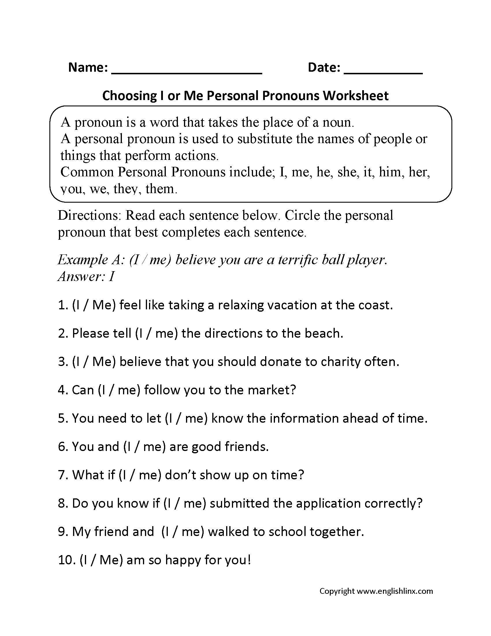 Printable Pronouns Worksheets Printable Pronouns Worksheet for Grade 1 Pronouns Worksheets