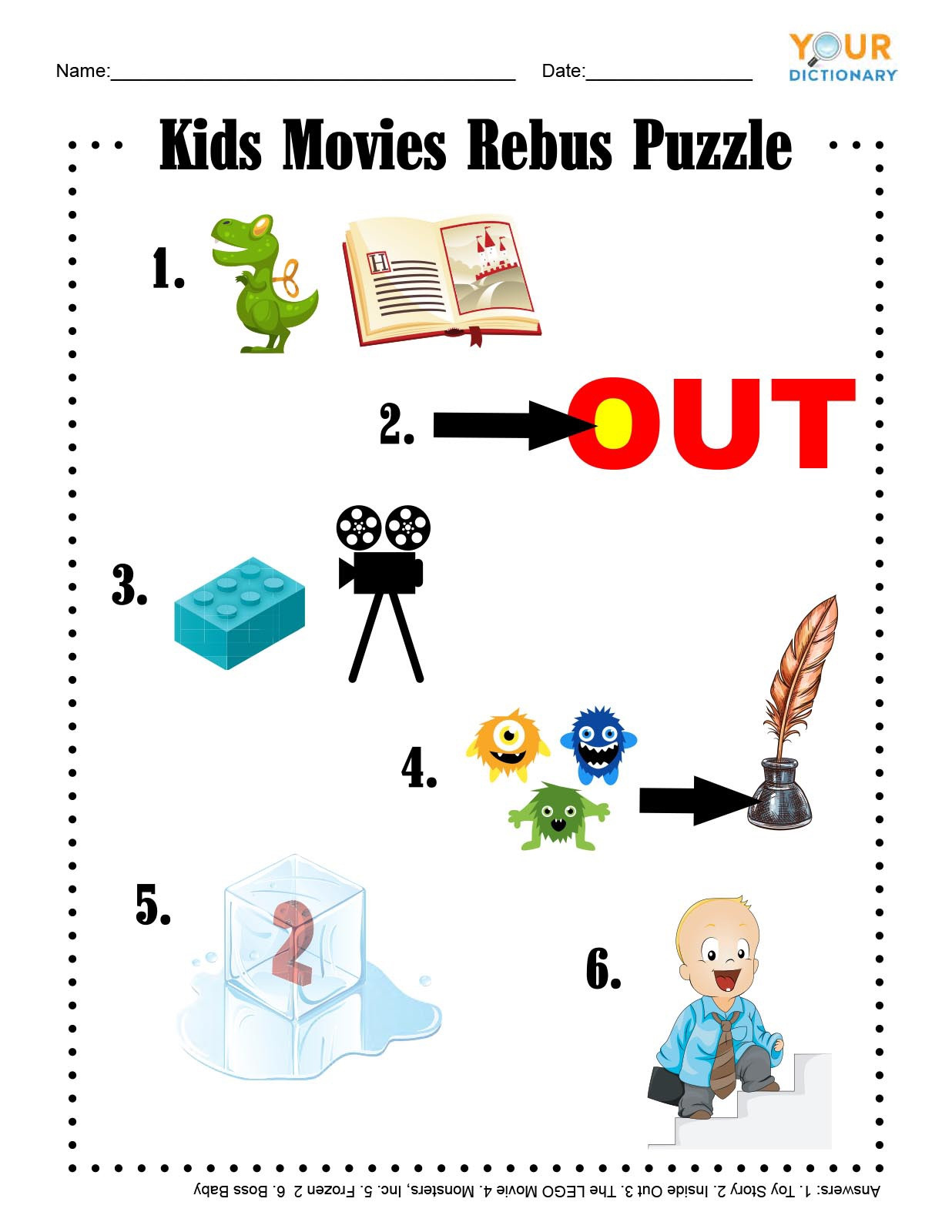 Printable Rebus Puzzles for Kids Fun & Free Printable Word Games for Kids