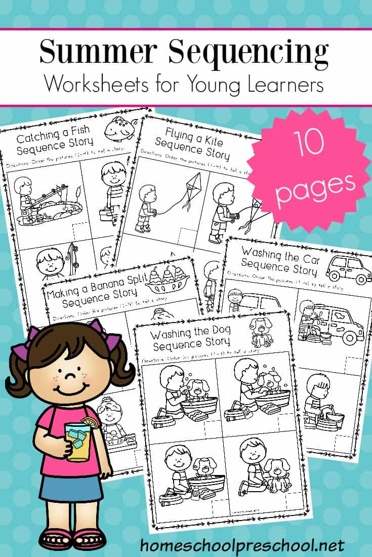 Printable Sequence Worksheets Free Sequencing Worksheets for Summer Learning Cards Math