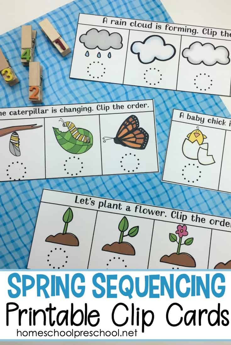 Printable Sequence Worksheets Free Spring Sequencing Cards Printable for Preschoolers