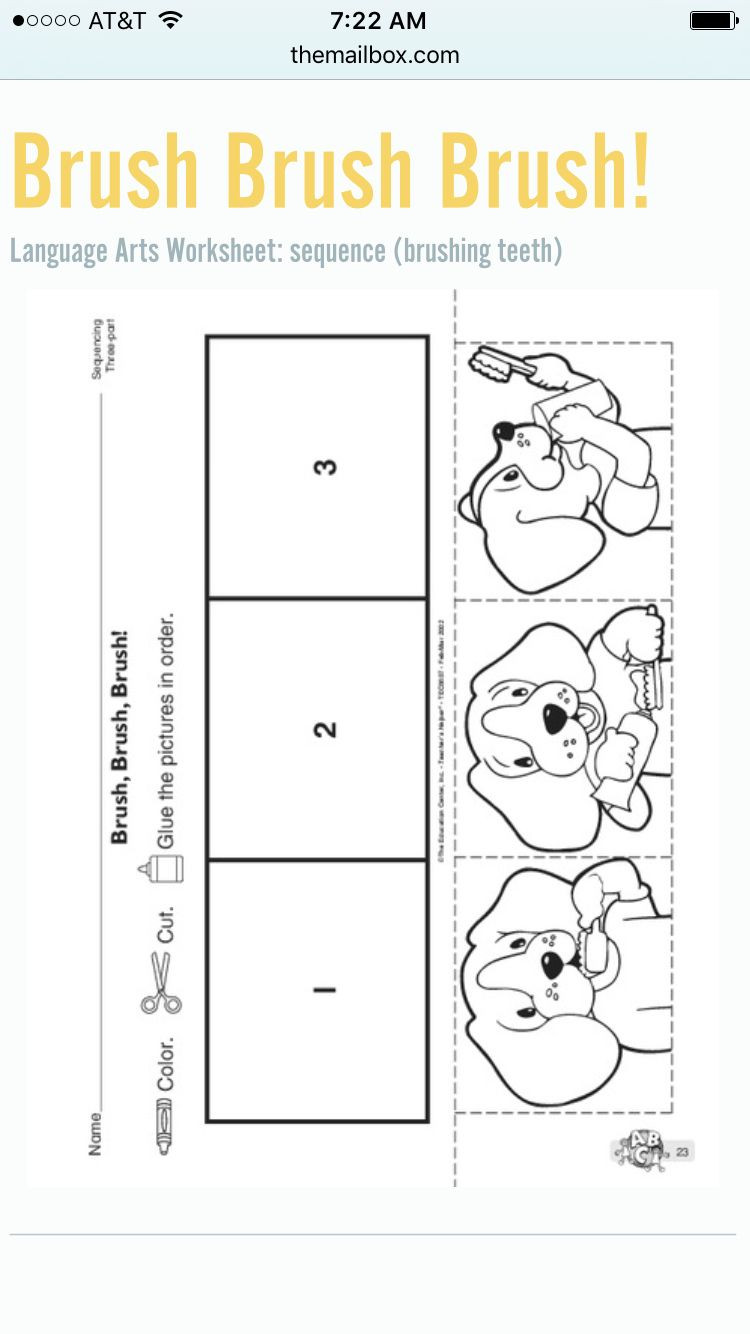 Printable Sequence Worksheets How to Brush Your Teeth Sequencing