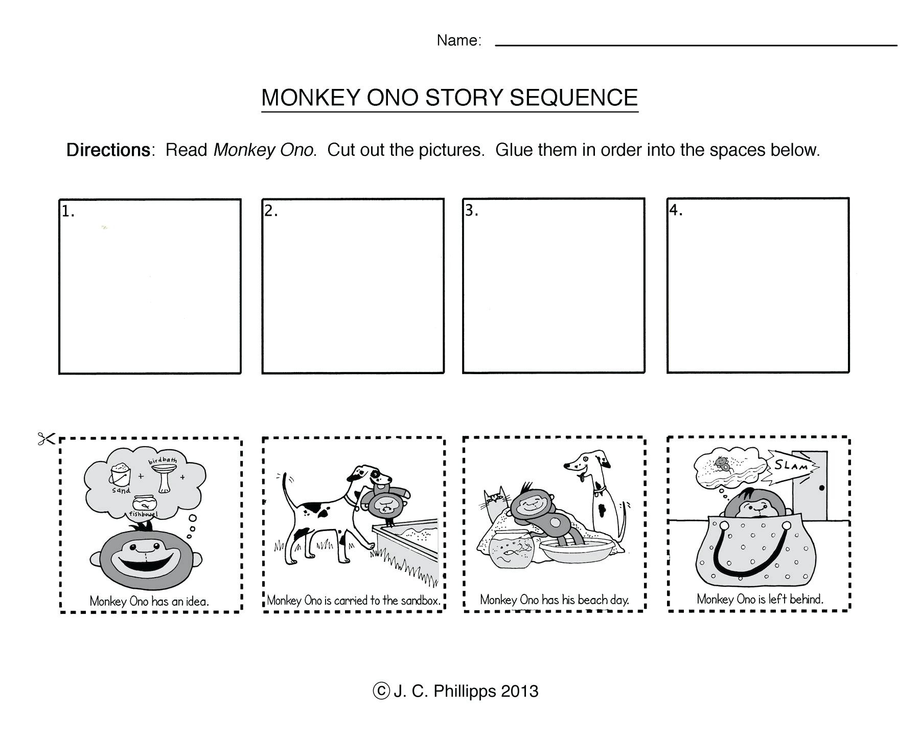 Printable Sequencing Worksheets 1st Grade Story Sequencing Worksheets