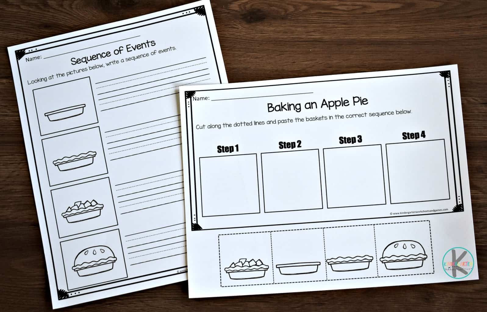Printable Sequencing Worksheets Fall Sequencing Worksheets
